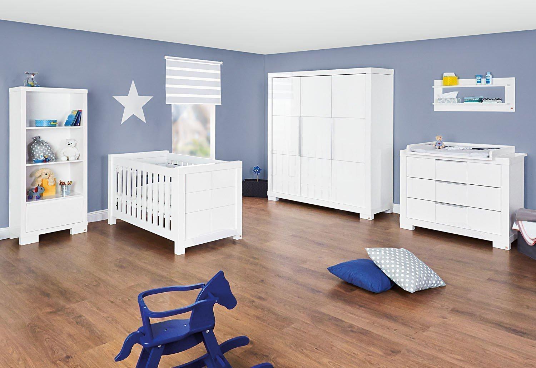 pinolino babyzimmer star weiß hochglanz   möbel letz - ihr online-shop - Kinderzimmer Weis Hochglanz