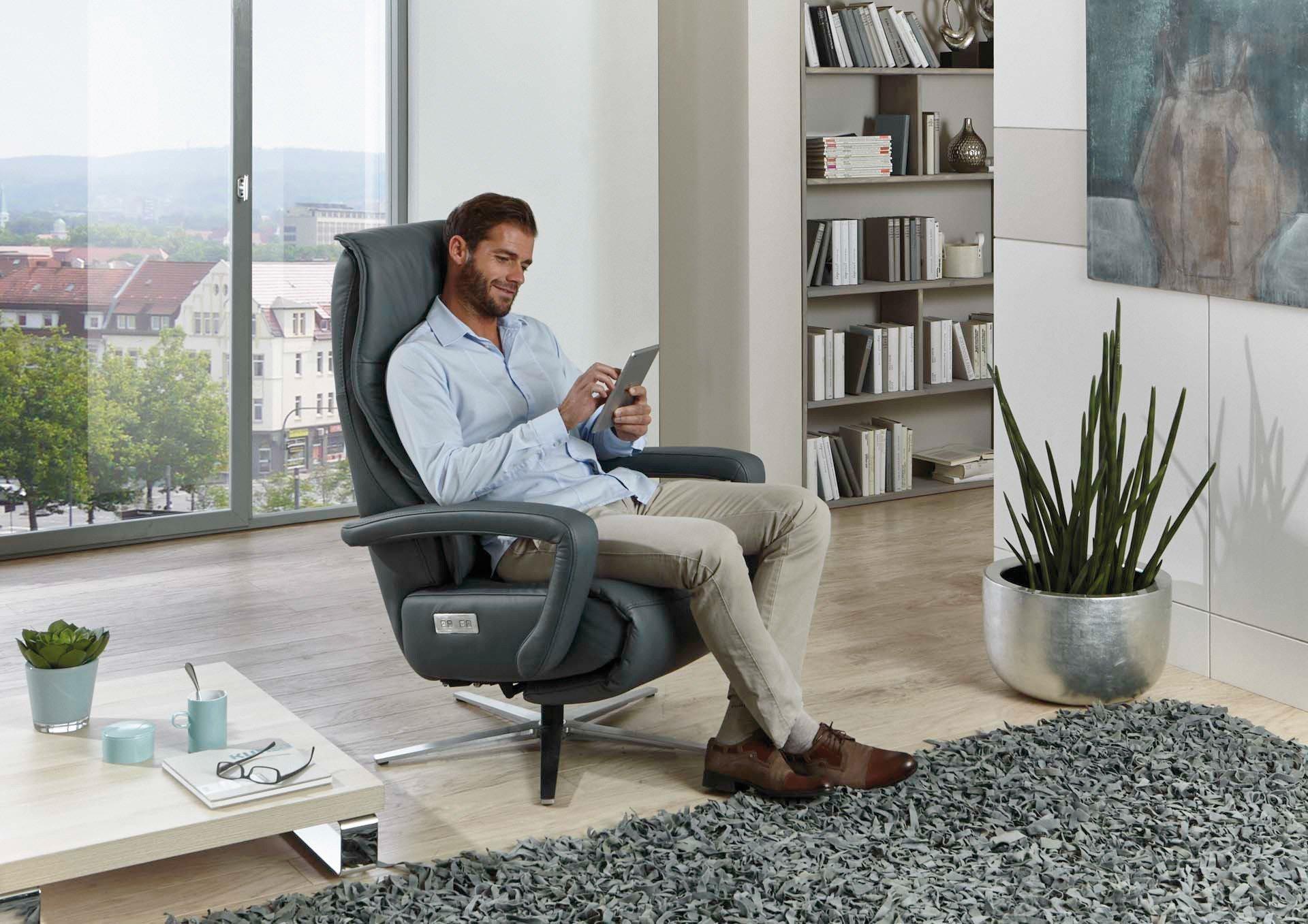 hukla ca52 funktionssessel in grau m bel letz ihr. Black Bedroom Furniture Sets. Home Design Ideas