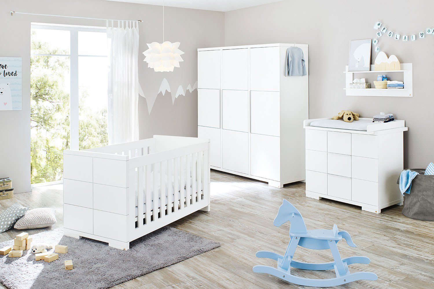 pinolino kinderzimmer polar wei breit gro m bel letz. Black Bedroom Furniture Sets. Home Design Ideas