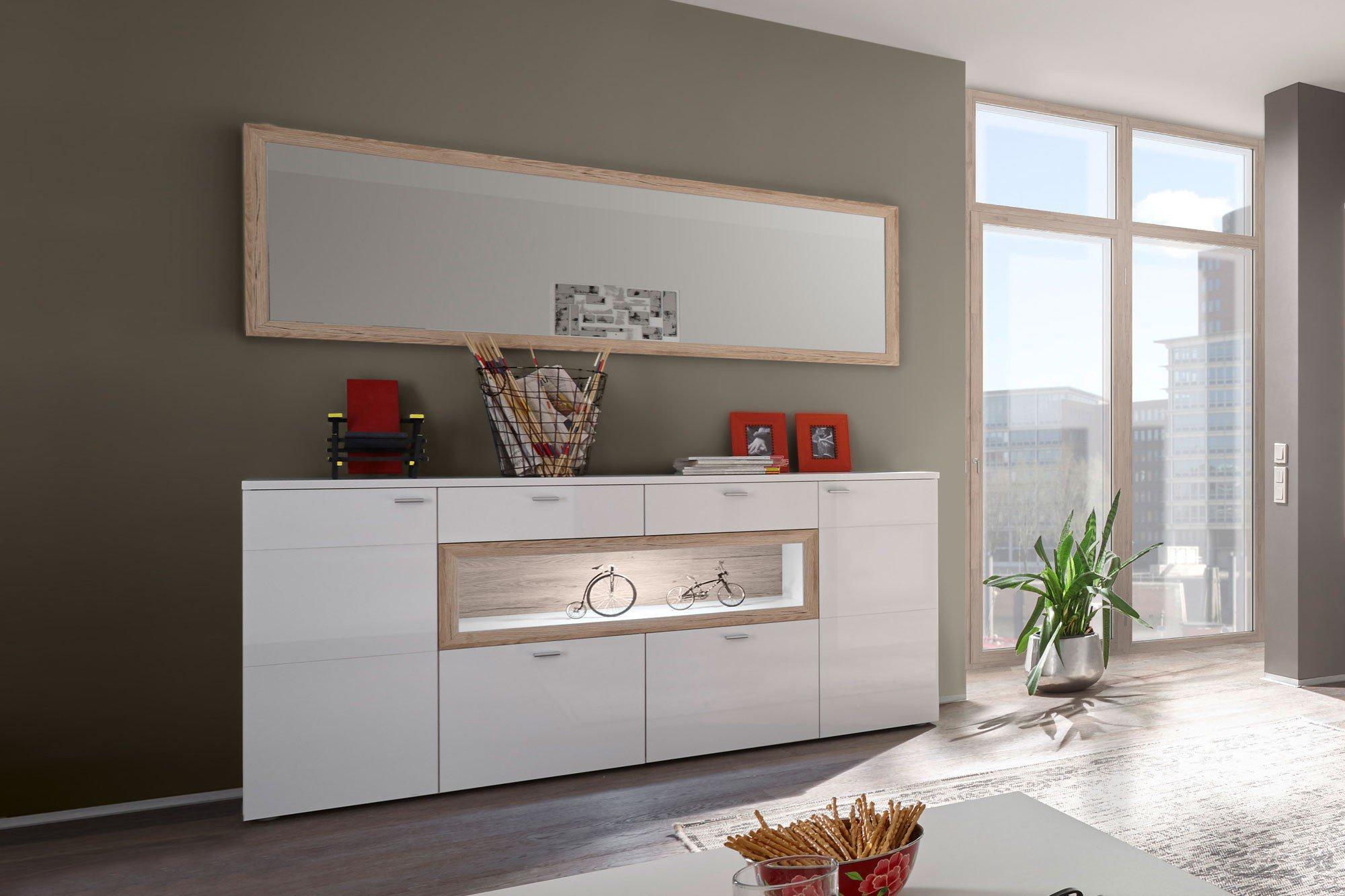 mit beleuchtung latest riva torno breite cm trig mdf mit. Black Bedroom Furniture Sets. Home Design Ideas