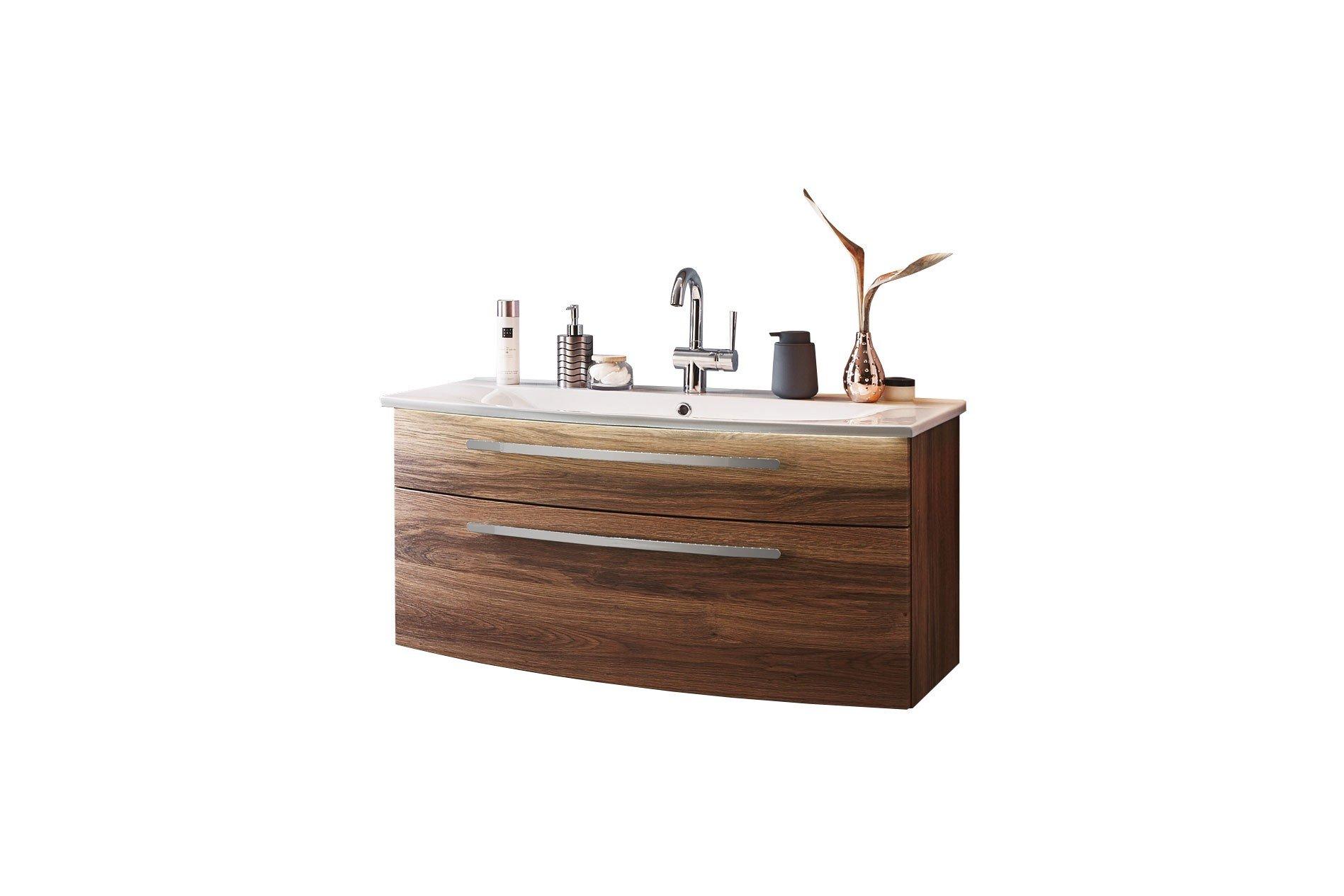 Badezimmer speed in charleston eiche mit keramik for Badezimmer konfigurator