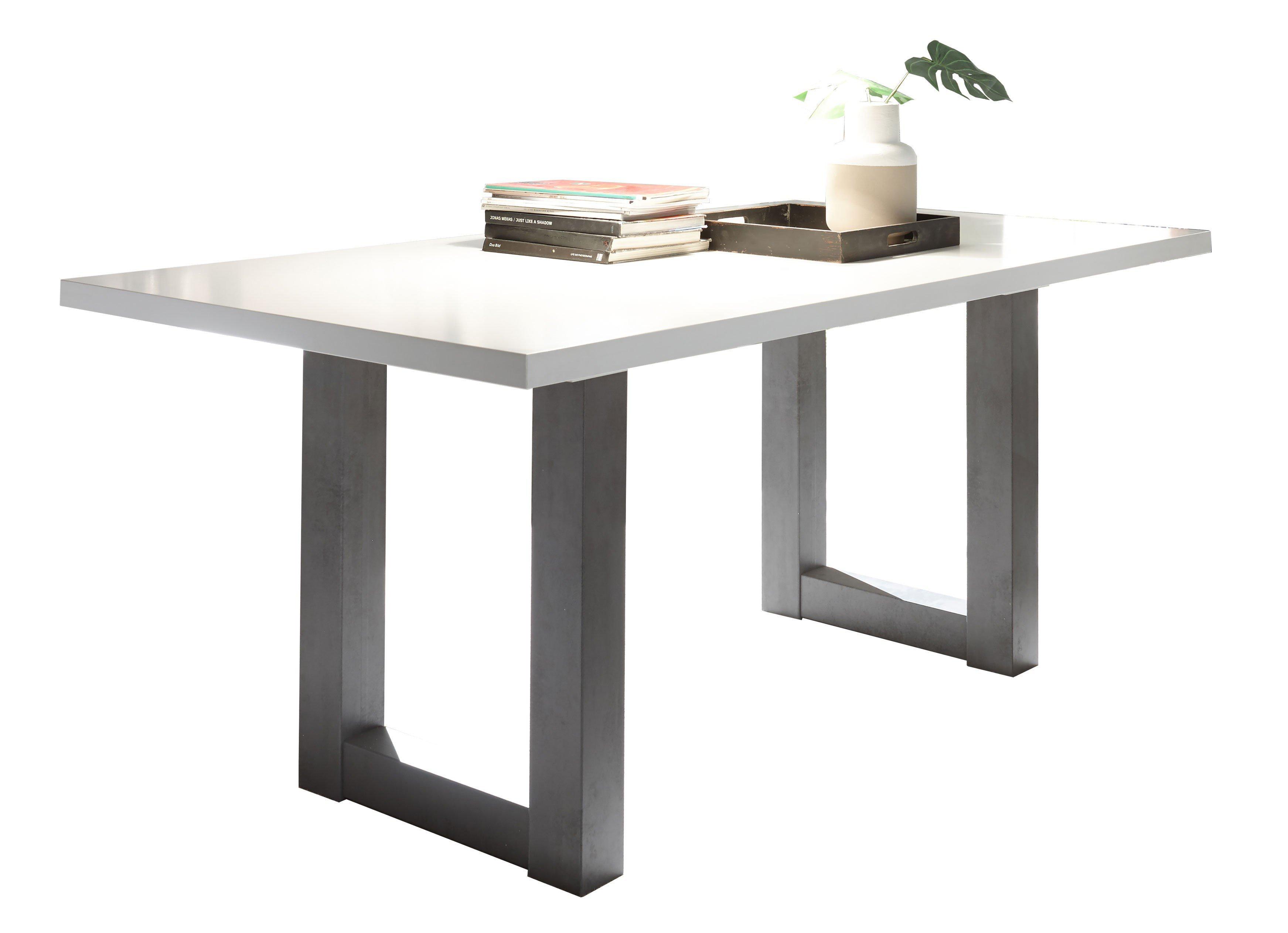 esstisch mister u trey wei matt graphit von m usbacher m bel letz ihr online shop. Black Bedroom Furniture Sets. Home Design Ideas