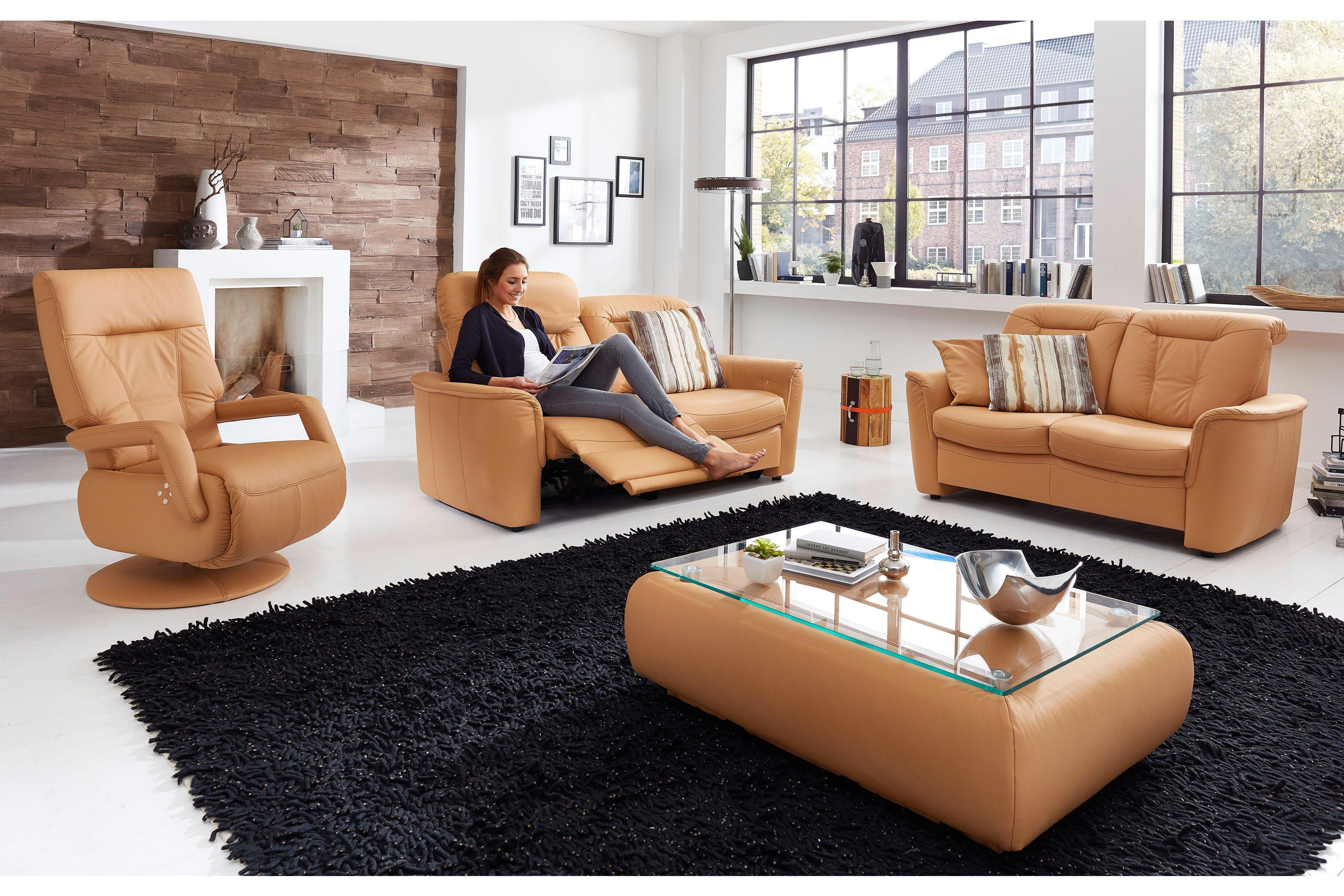 pm oelsa palermo ledergarnitur in apricot m bel letz ihr online shop. Black Bedroom Furniture Sets. Home Design Ideas