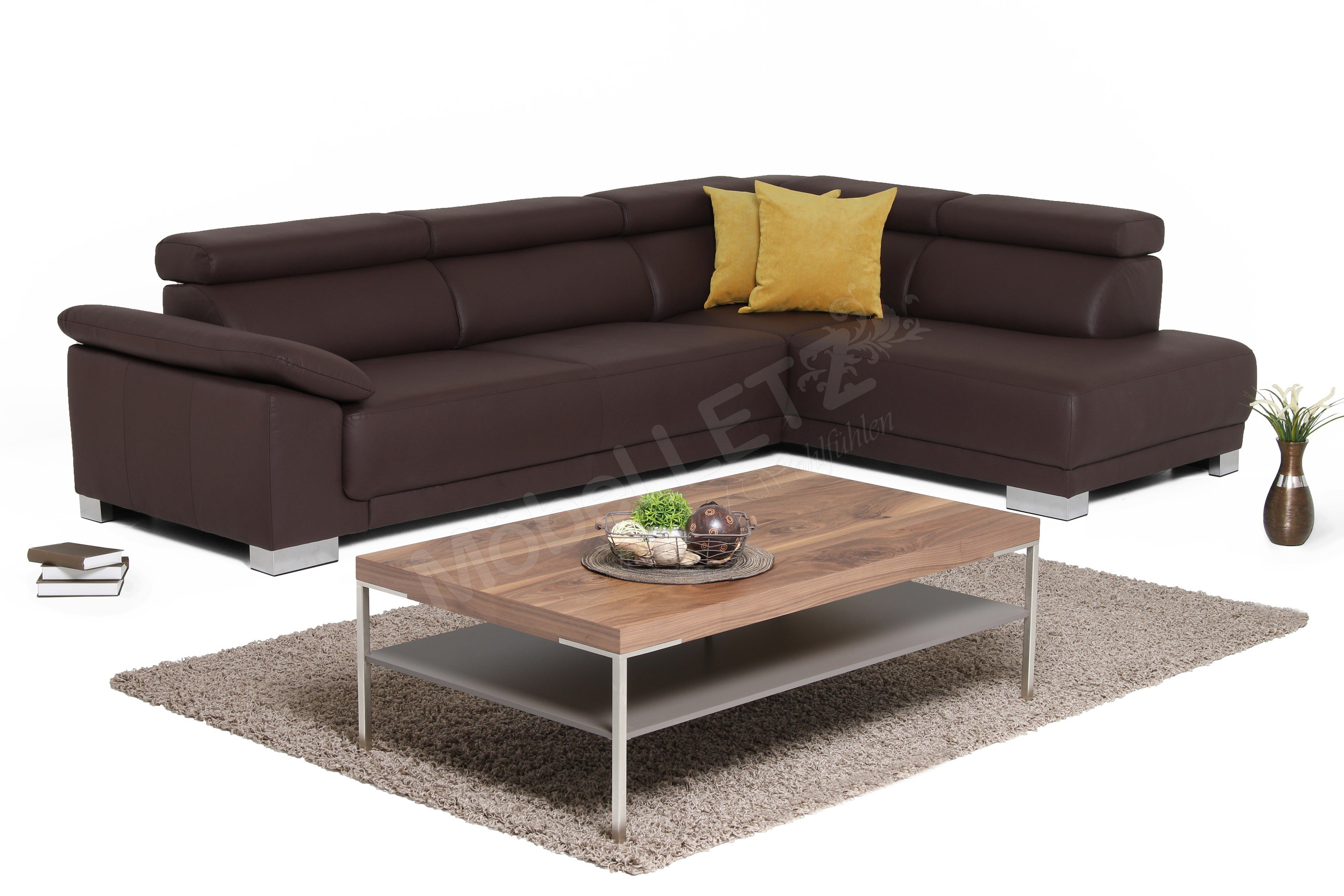 candy emporia ecksofa in braun m bel letz ihr online shop. Black Bedroom Furniture Sets. Home Design Ideas