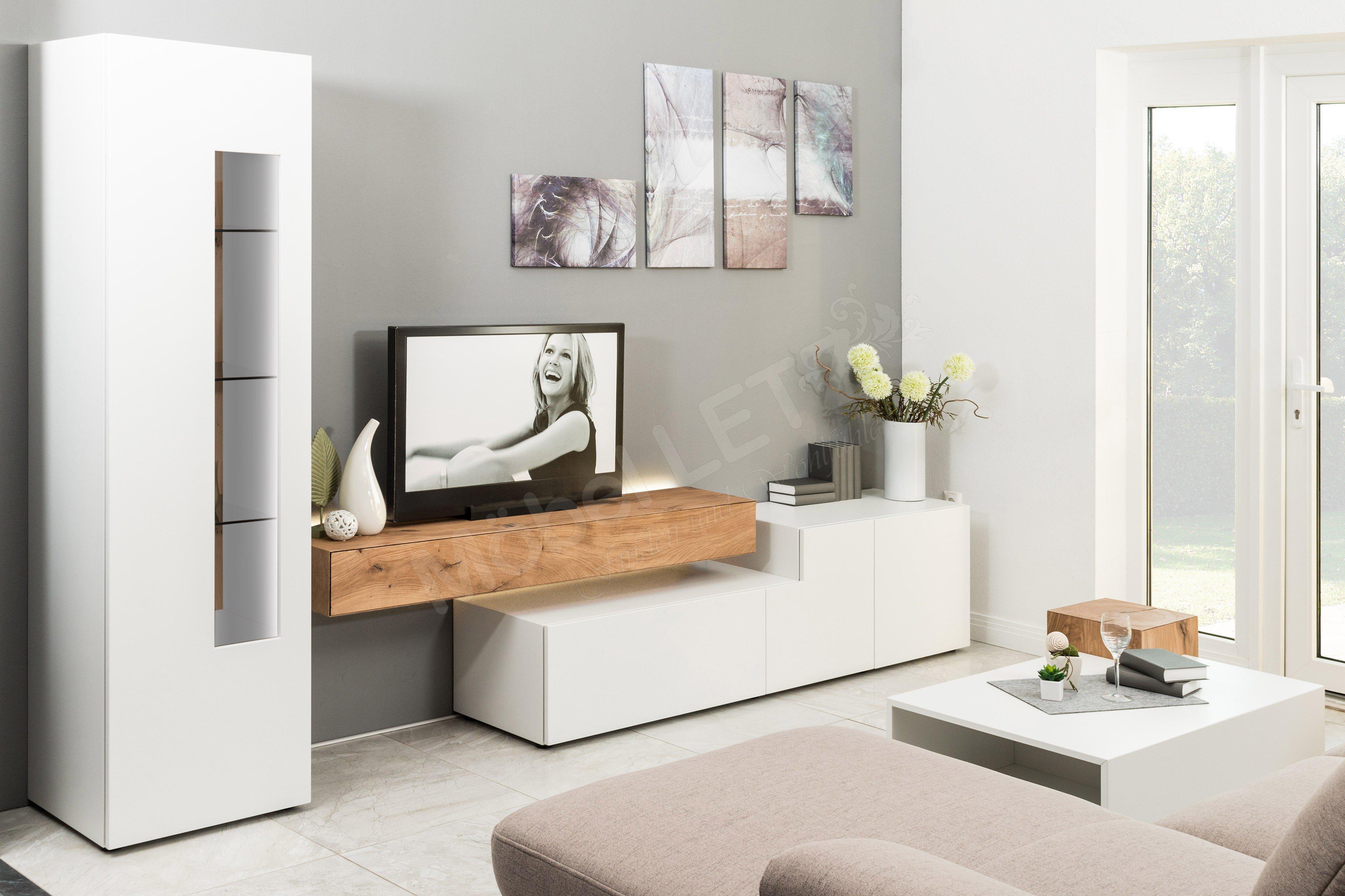 w stmann designm bel wohnwand nw 440 mit beleuchtung. Black Bedroom Furniture Sets. Home Design Ideas