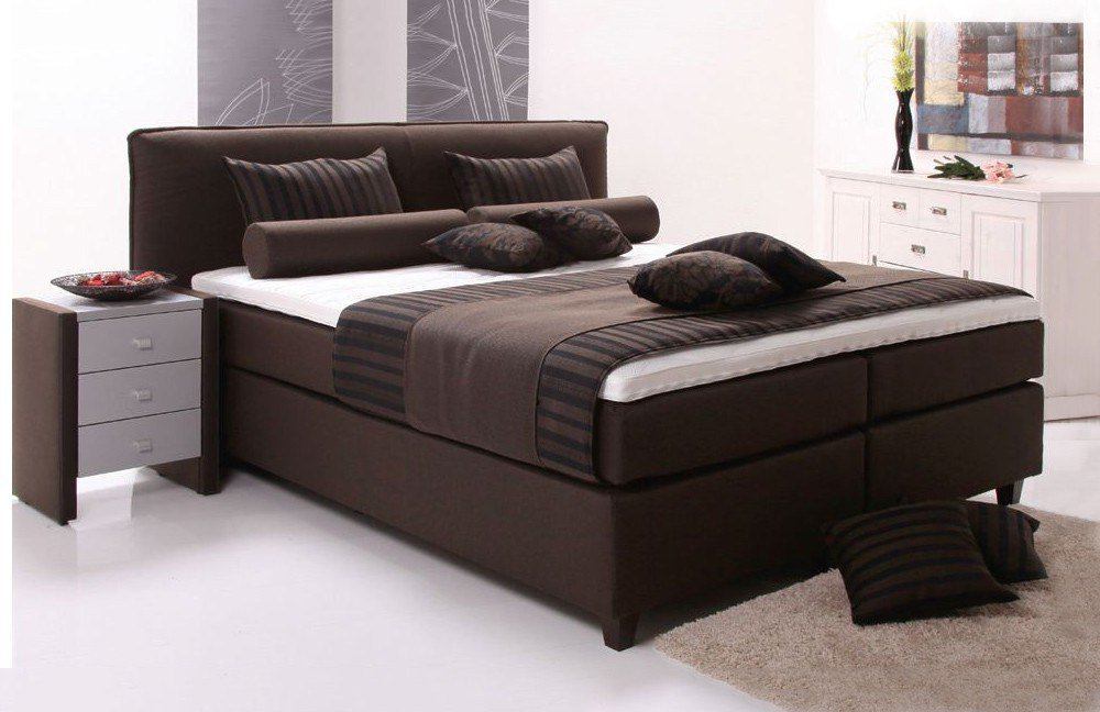 breckle boxspringbett diadem banu in braun m bel letz ihr online shop. Black Bedroom Furniture Sets. Home Design Ideas