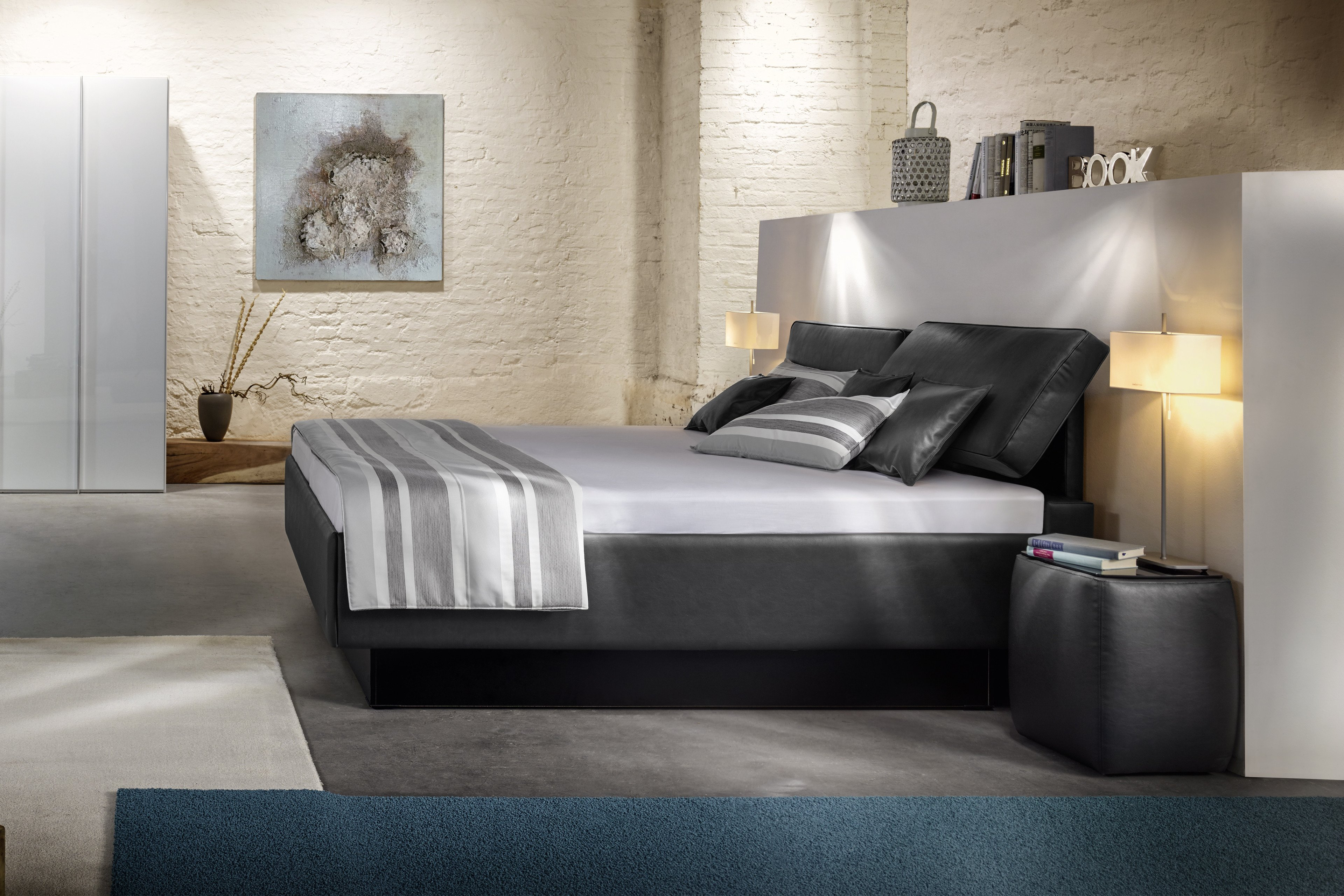 polsterbett von ruf modell composium in dunkelbraun m bel letz ihr online shop. Black Bedroom Furniture Sets. Home Design Ideas