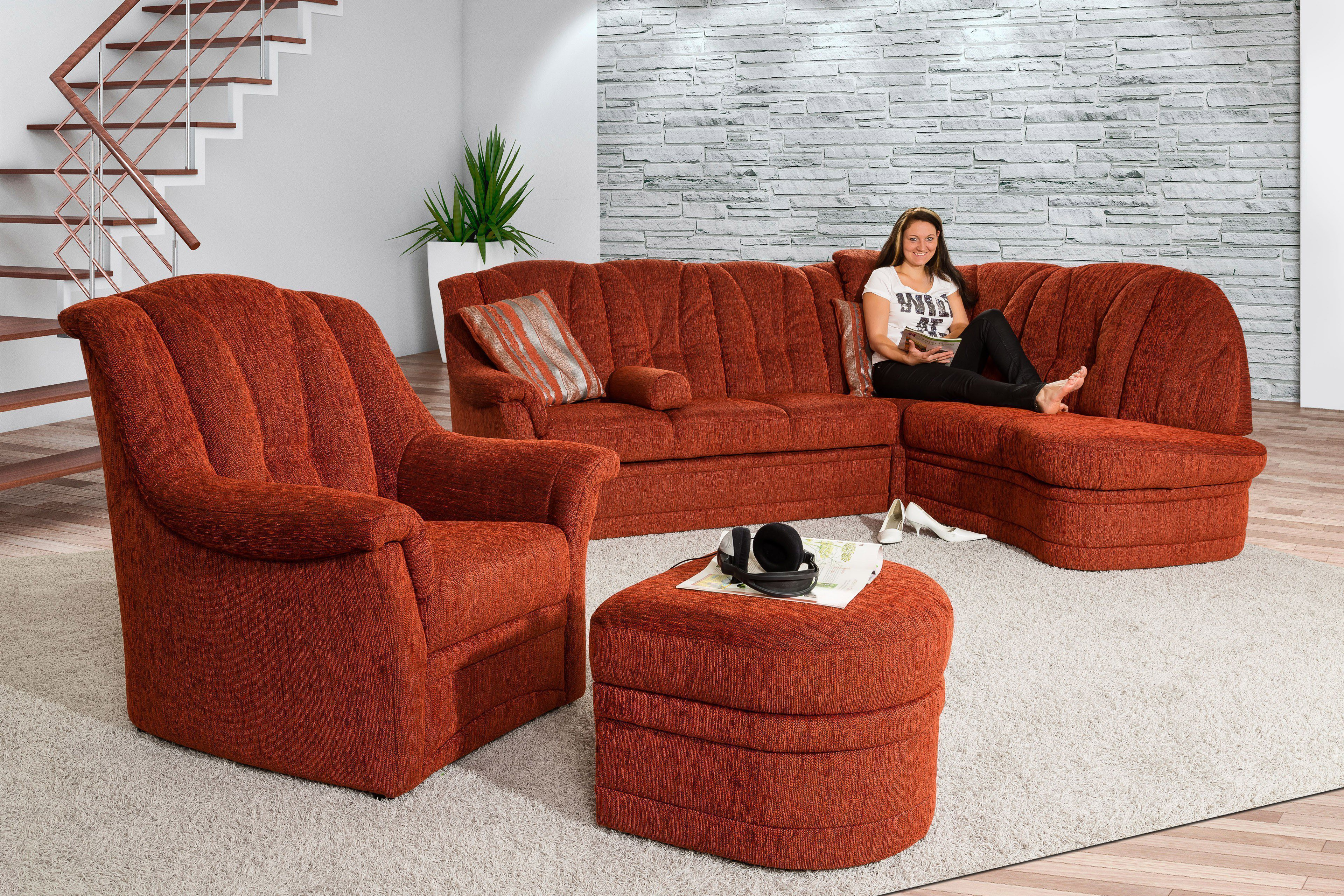 Pm Oelsa Sandy Eckgarnitur In Rot Möbel Letz Ihr Online Shop