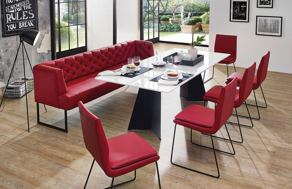 bank creso in rot von k w polsterm bel m bel letz ihr online shop. Black Bedroom Furniture Sets. Home Design Ideas