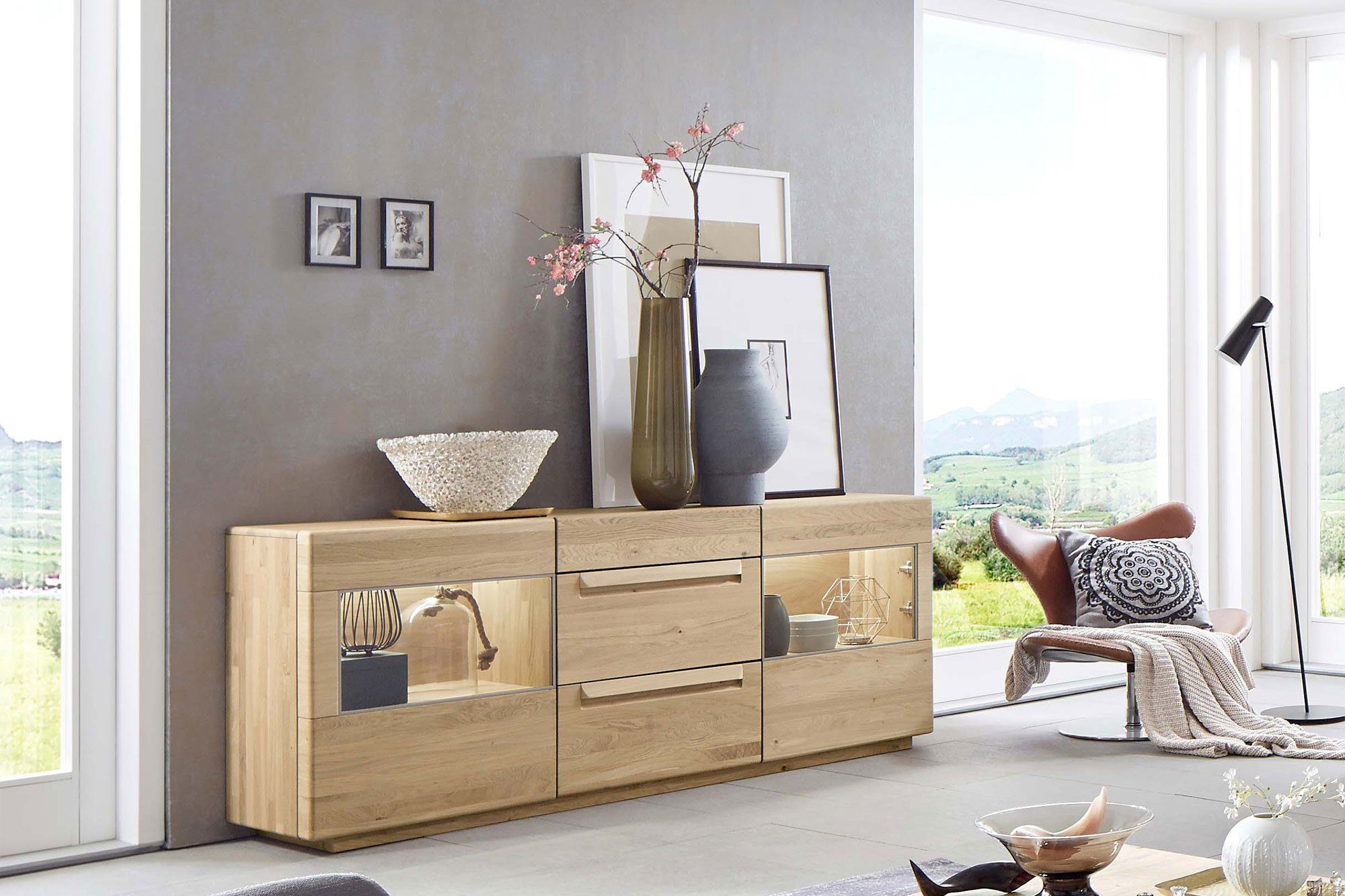 sideboard sapio wildeiche massiv von w stmann designm bel m bel letz ihr online shop. Black Bedroom Furniture Sets. Home Design Ideas