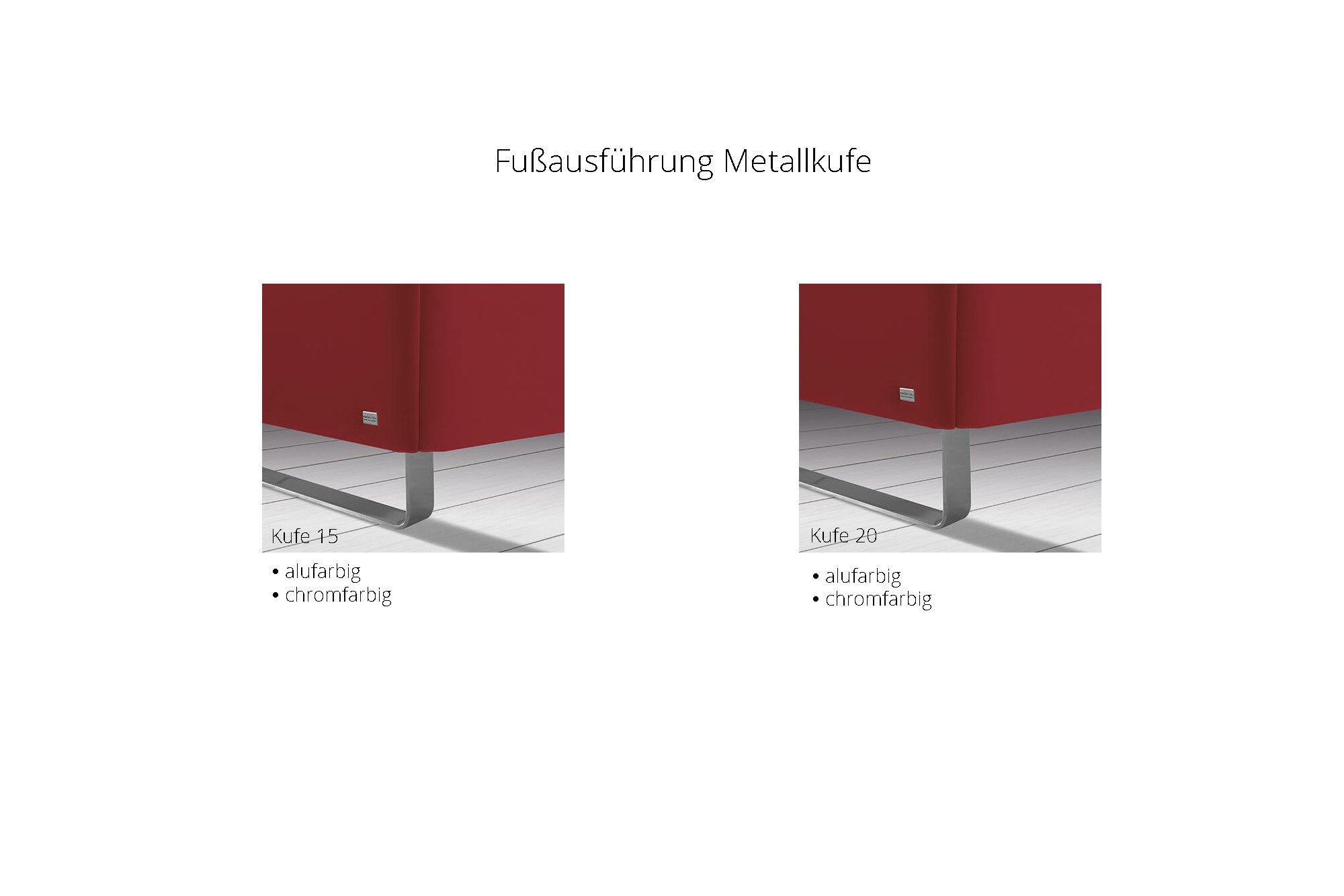 Ruf Polsterbett Loftline in Braun mit gepolstertem Kopfteil | Möbel ...