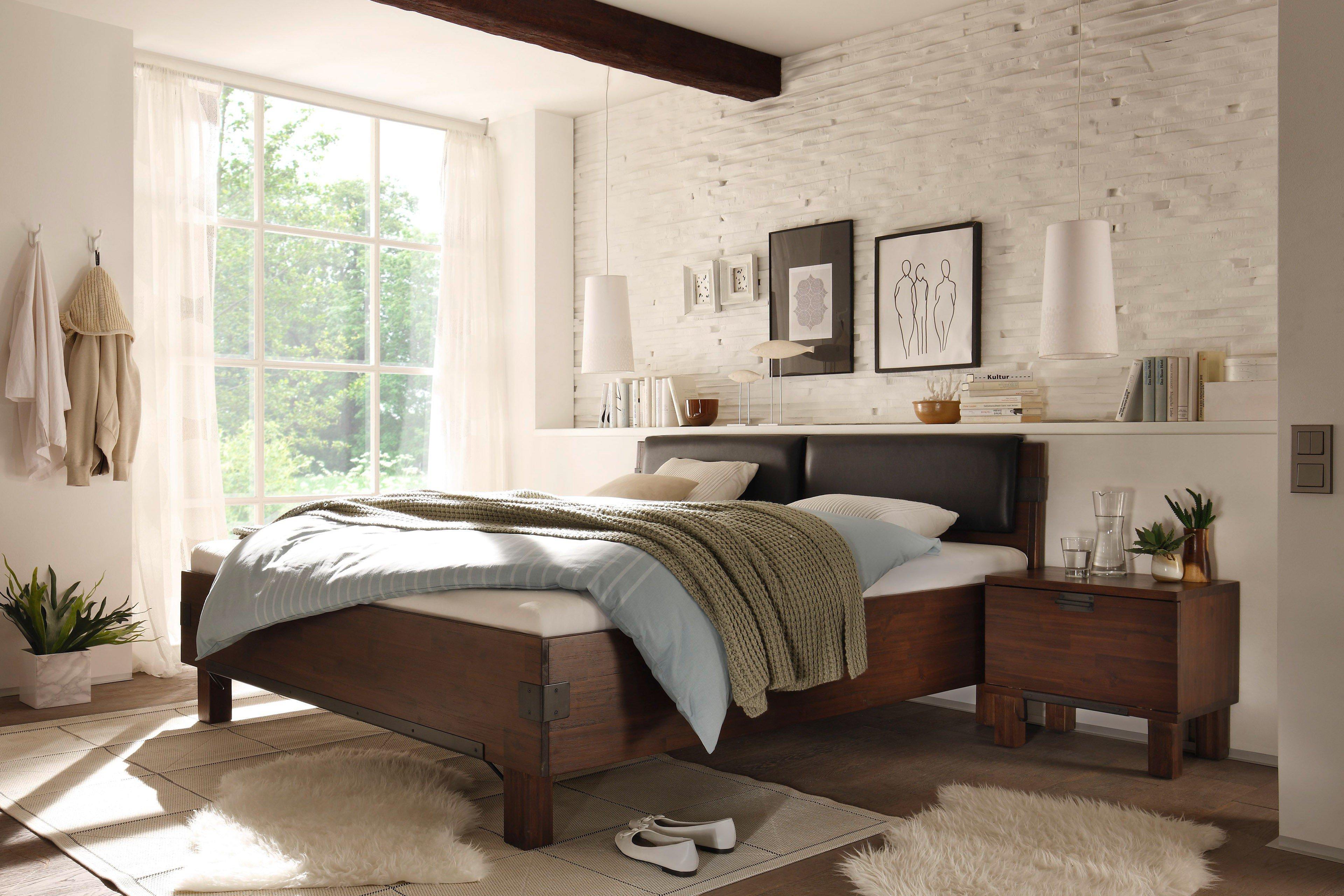 quattro massivholzbett akazie von quadrato | möbel letz - ihr, Schlafzimmer entwurf