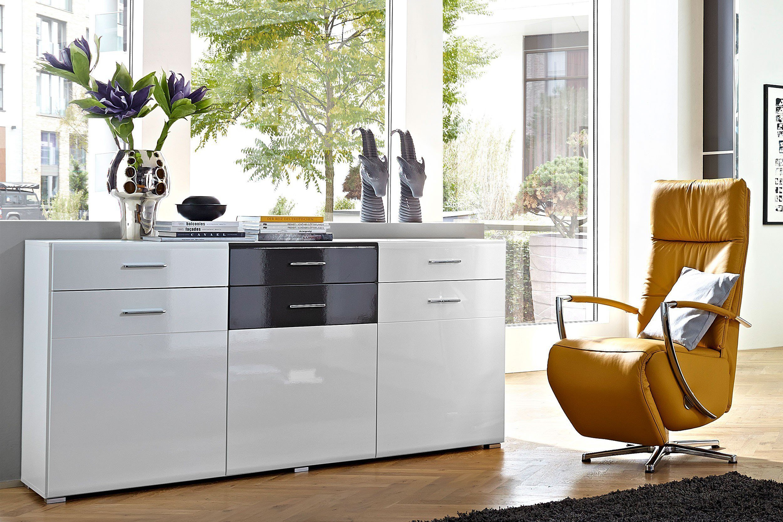 Scala Von Wohn Concept   Sideboard Weiß/ Grau