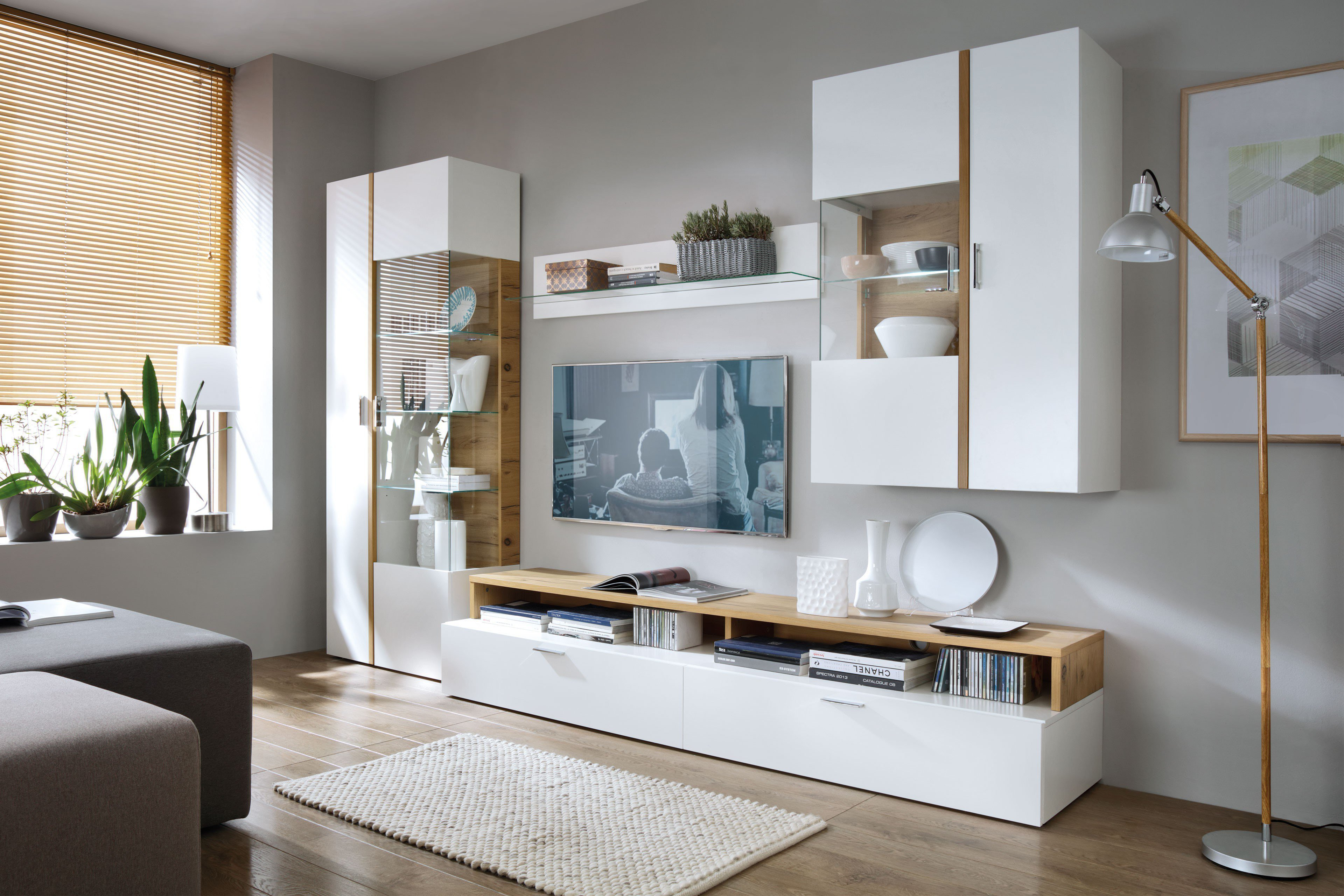 wohnwand mit beleuchtung wohnwand june inkl with wohnwand. Black Bedroom Furniture Sets. Home Design Ideas