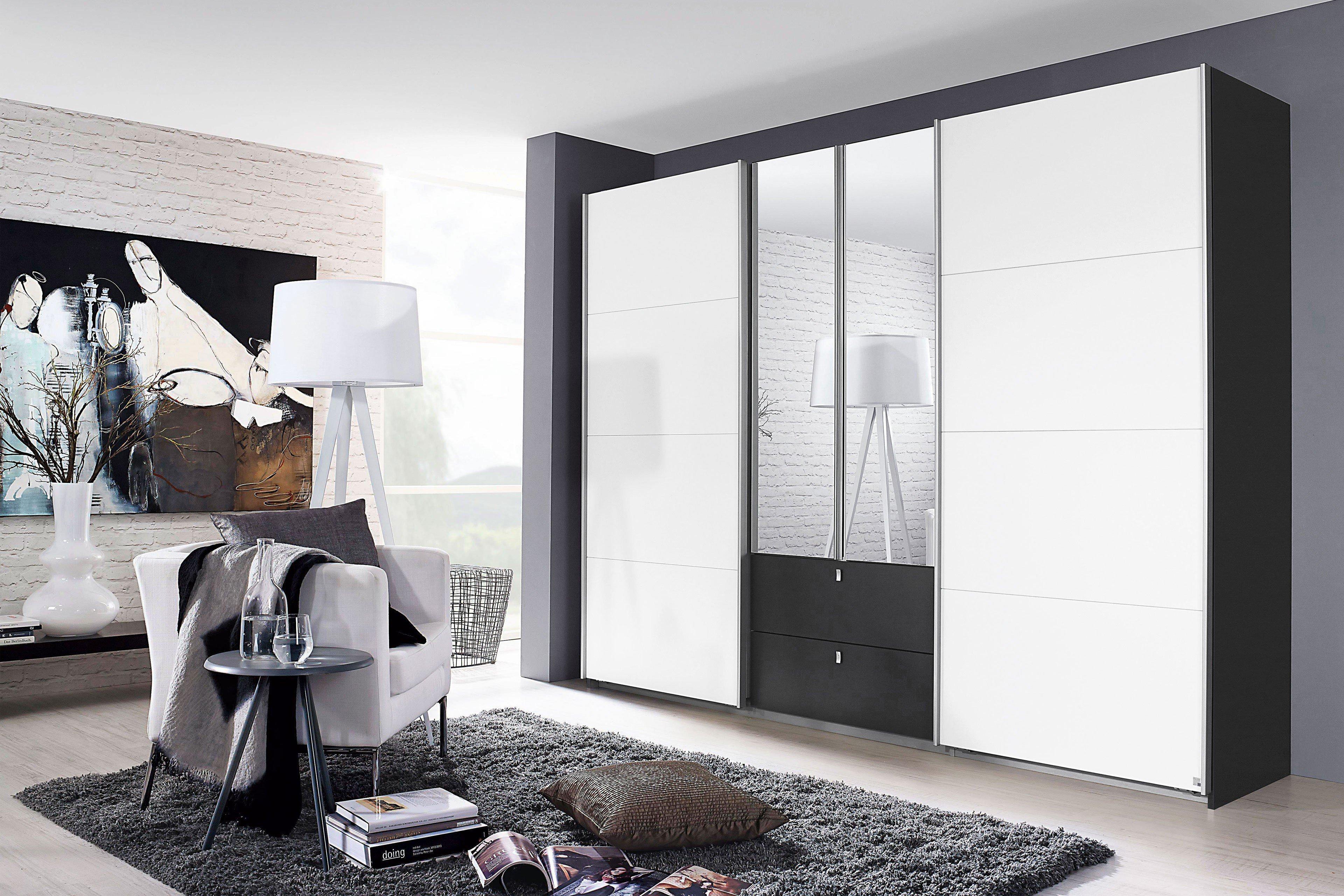 Schwebetürenschrank weiß grau  Rauch Kombino Schrank weiß grau-metallic | Möbel Letz - Ihr Online ...