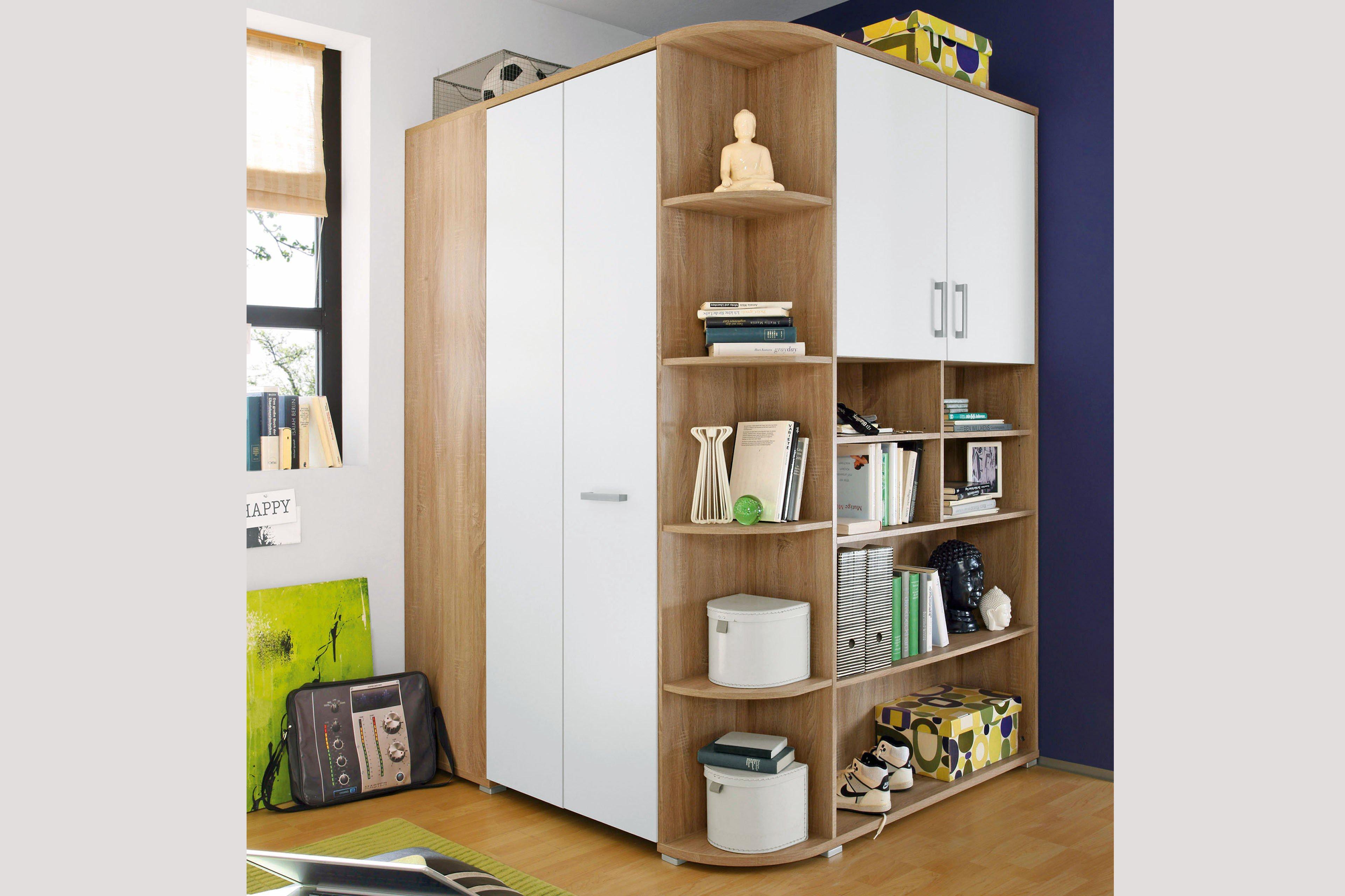 pol power corner kleiderschrank begehbar sonoma eiche. Black Bedroom Furniture Sets. Home Design Ideas