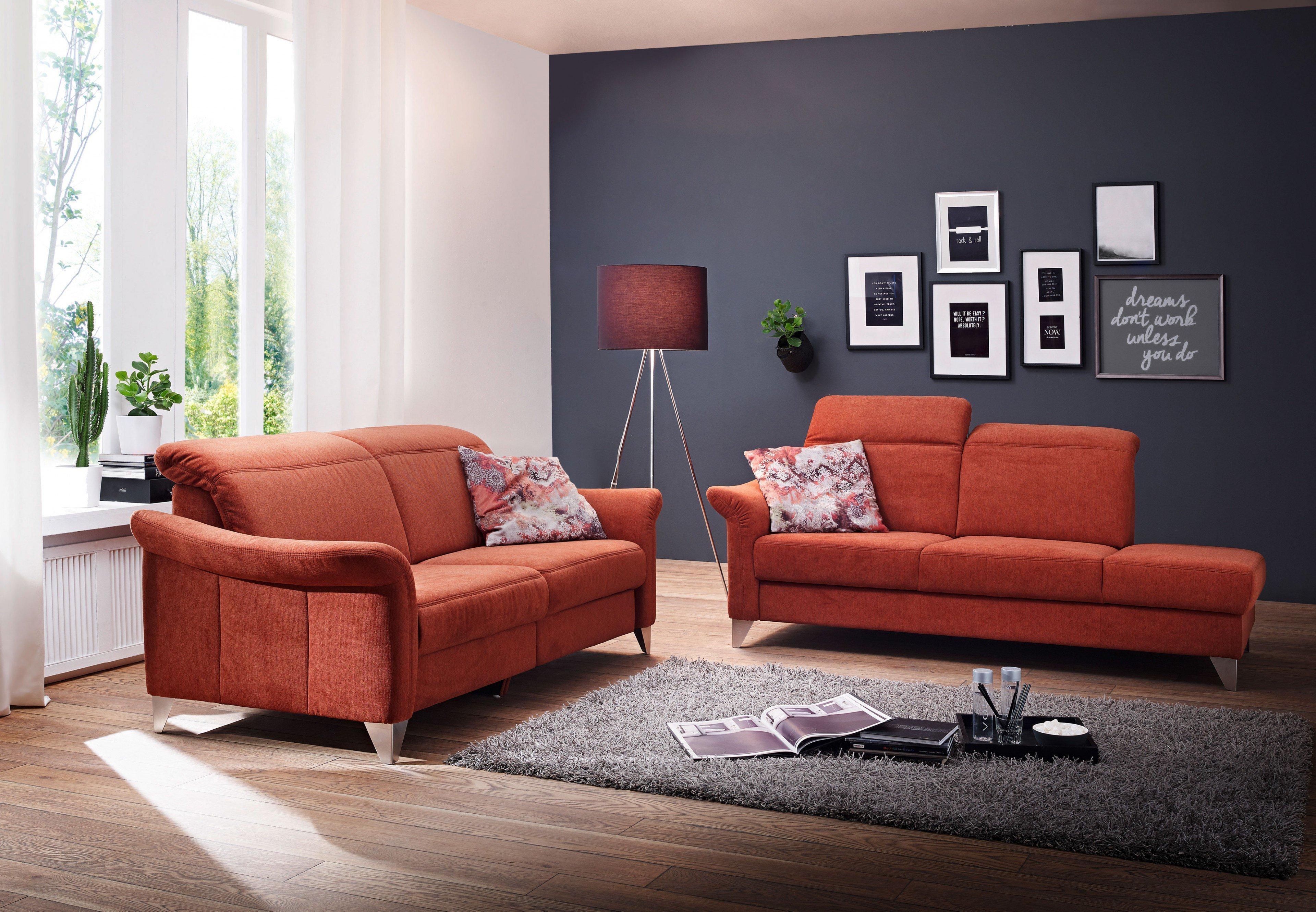 ponsel genua sofagarnitur rot m bel letz ihr online shop. Black Bedroom Furniture Sets. Home Design Ideas