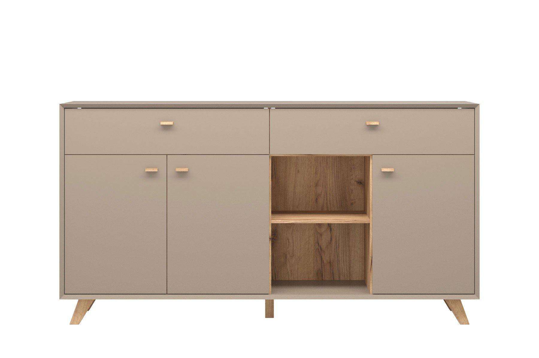 germania sideboard calvi steingrau m bel letz ihr. Black Bedroom Furniture Sets. Home Design Ideas