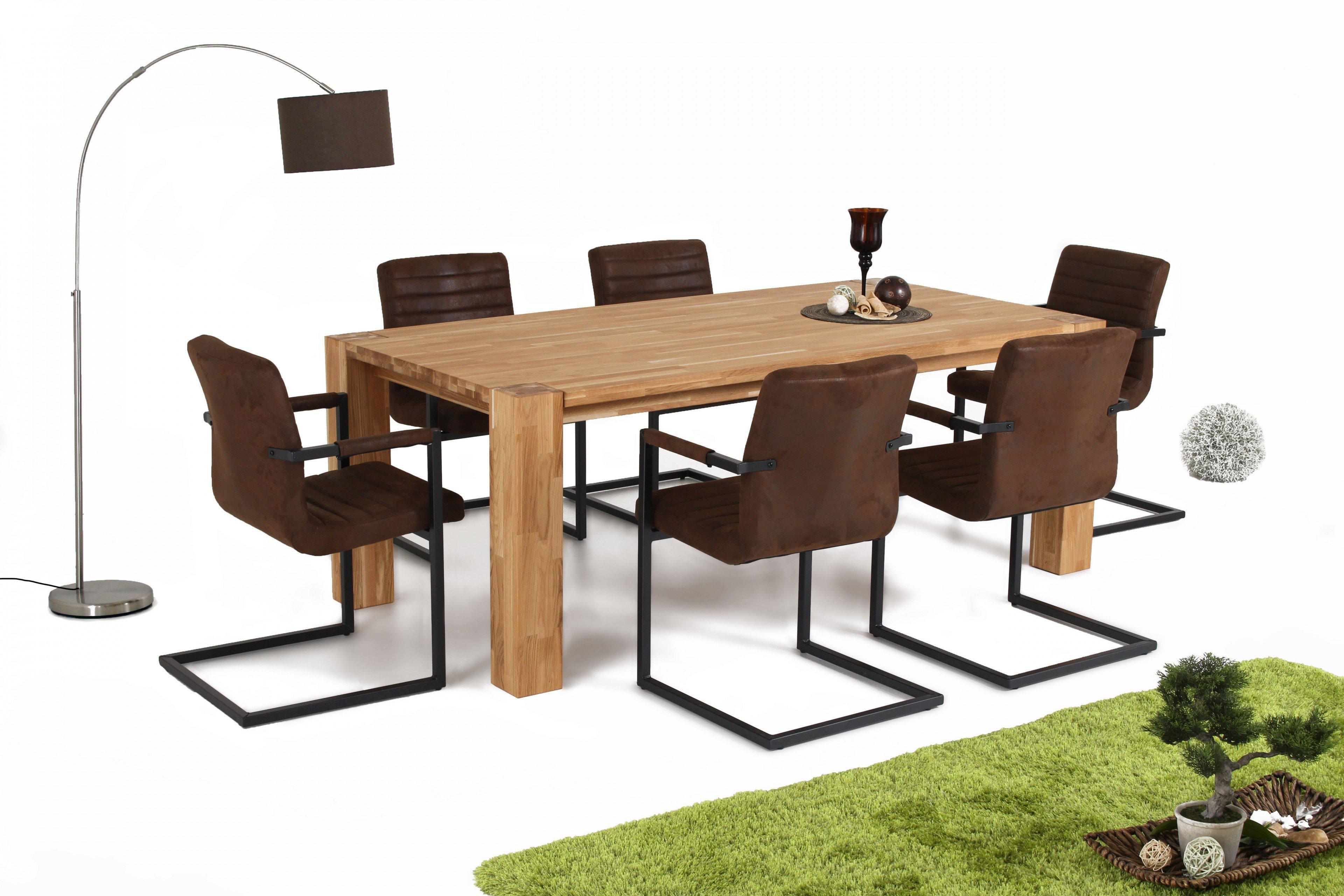 massiv.direkt Tisch Big Oak Wildeiche ca. 200 cm | Möbel Letz - Ihr ...