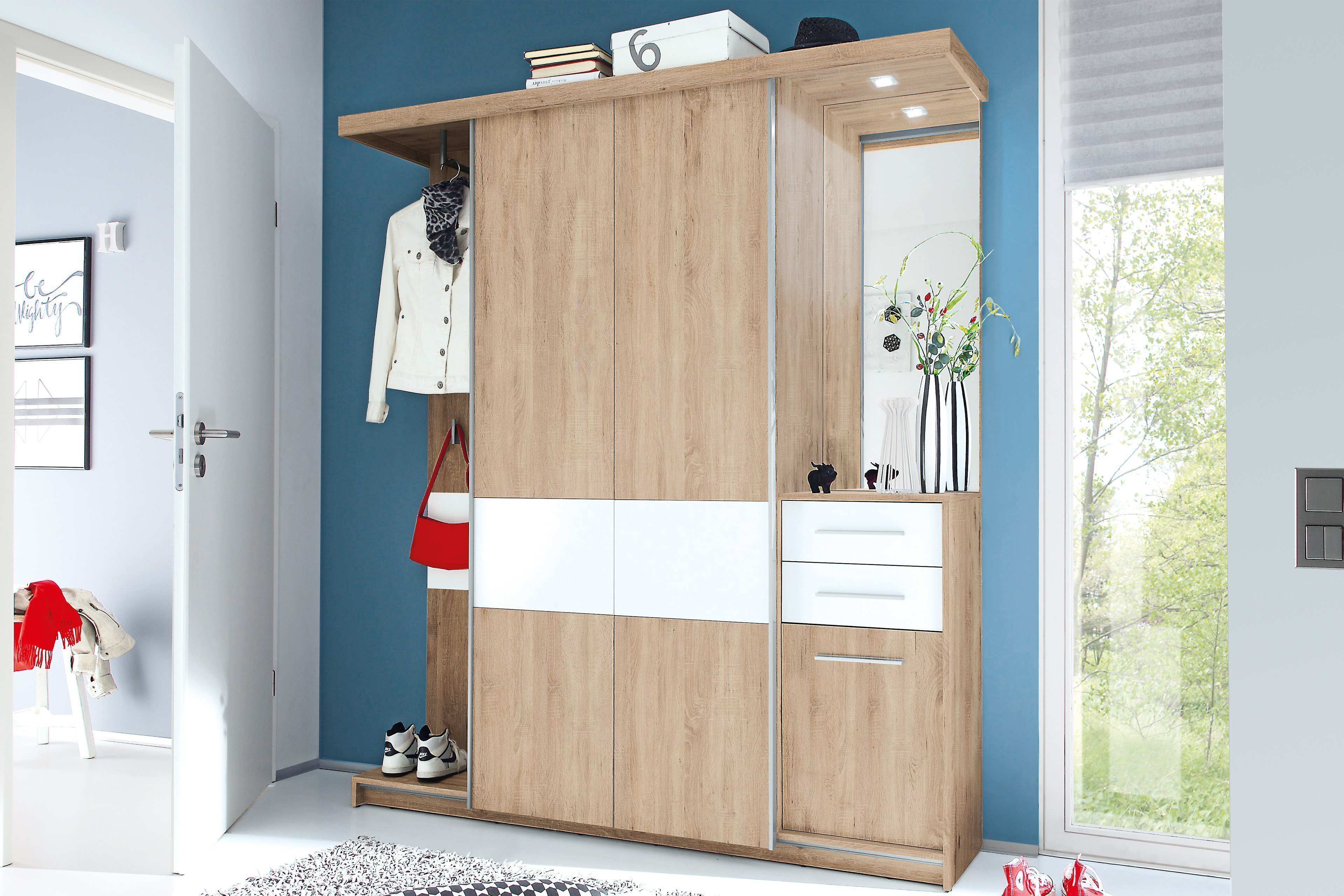 first look garderobe swing 2 mit schiebet ren m bel letz ihr online shop. Black Bedroom Furniture Sets. Home Design Ideas