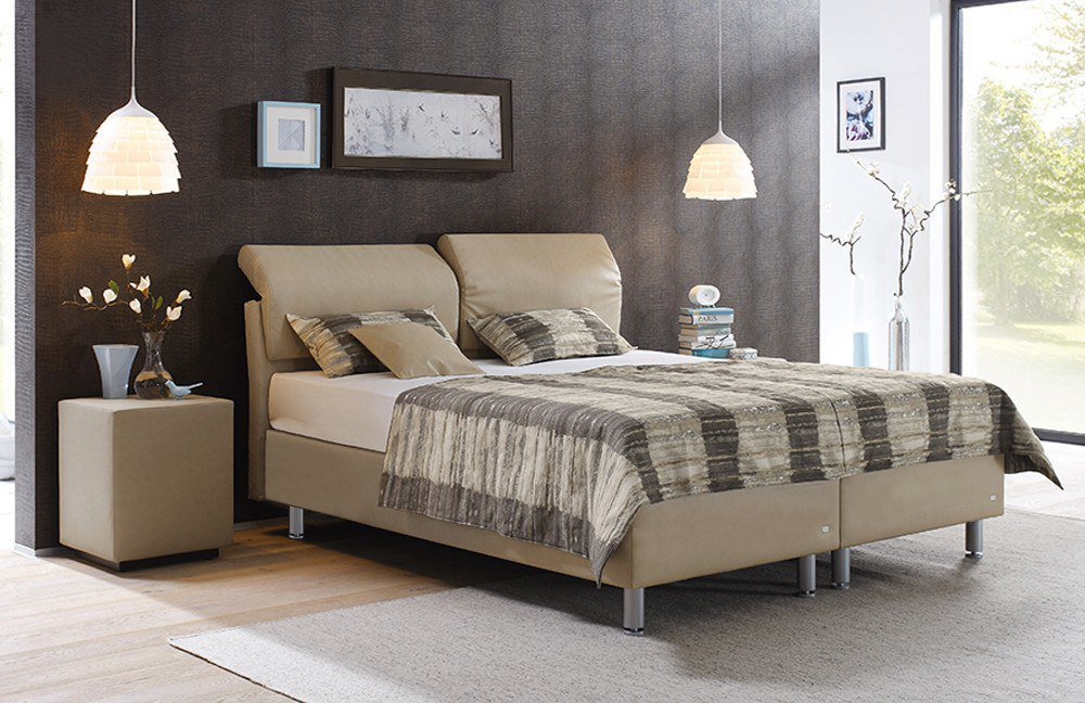 ruf adessa boxspringbett in beige mit verstellbarem. Black Bedroom Furniture Sets. Home Design Ideas