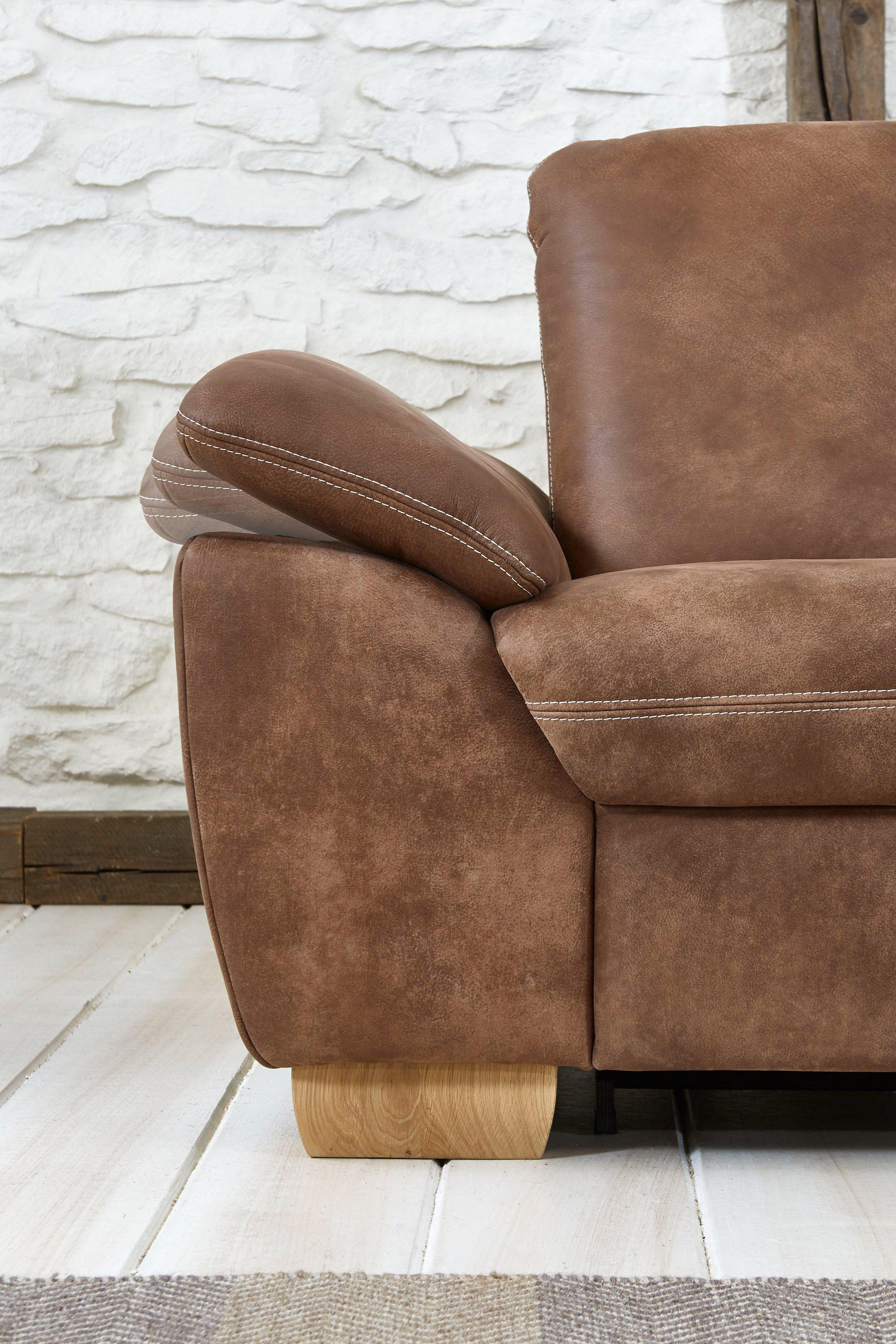 polinova pico l ledersofa braun m bel letz ihr online shop. Black Bedroom Furniture Sets. Home Design Ideas