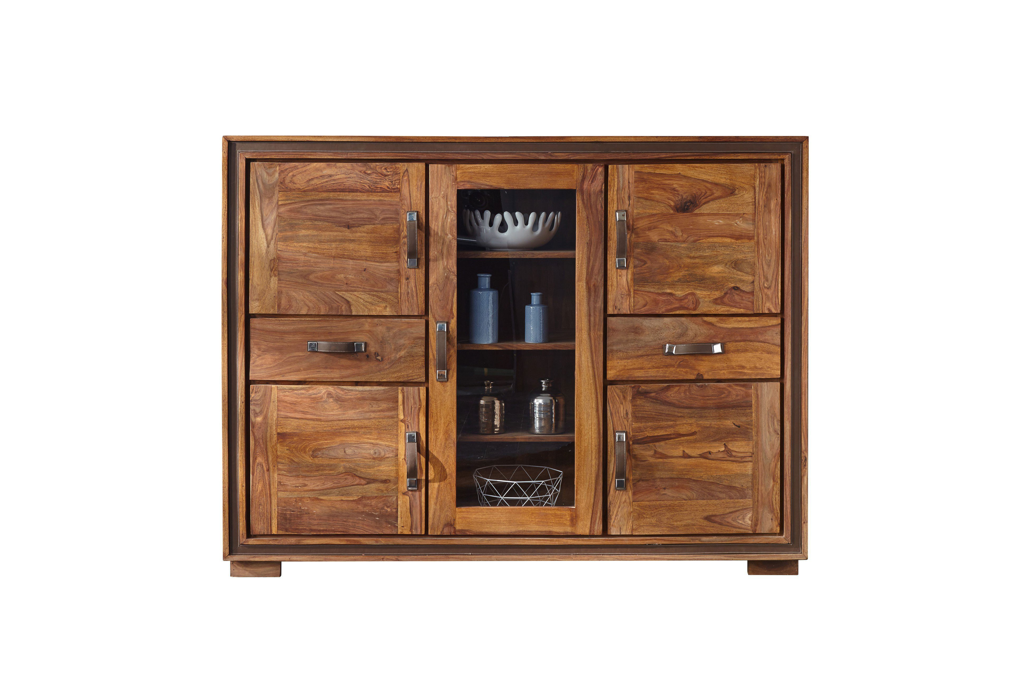 wolf m bel highboard mit 4 holzt ren sheesham m bel letz ihr online shop. Black Bedroom Furniture Sets. Home Design Ideas