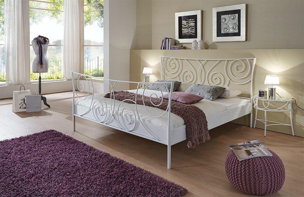 dico m bel metallbett wei glanz m bel letz ihr online shop. Black Bedroom Furniture Sets. Home Design Ideas