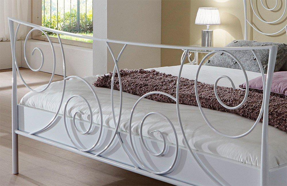 Metallbett weiß  Dico Möbel 243.00 Metallbett weiß Glanz | Möbel Letz - Ihr Online-Shop