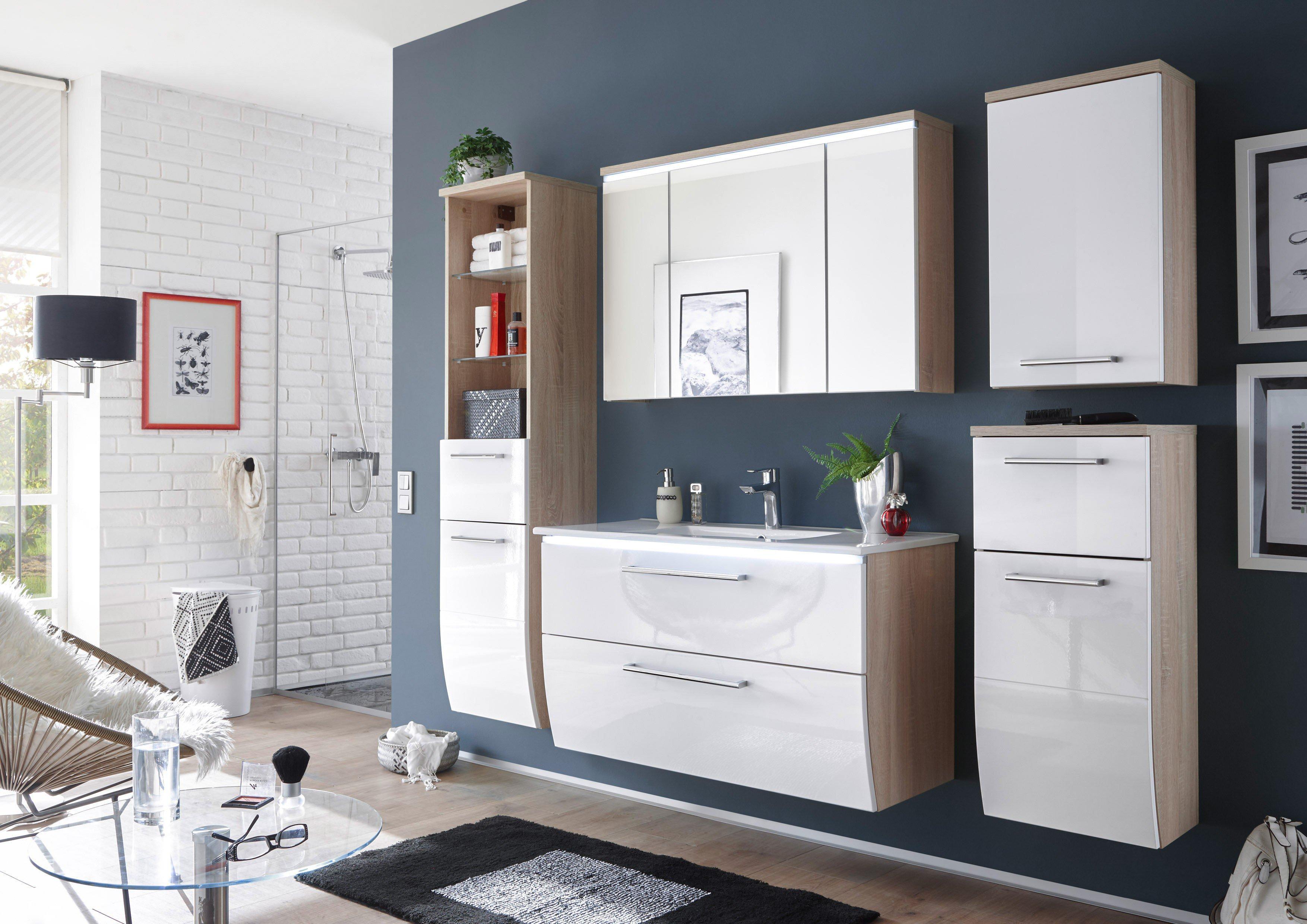 bega badezimmer miami weiß sonoma | möbel letz - ihr online-shop