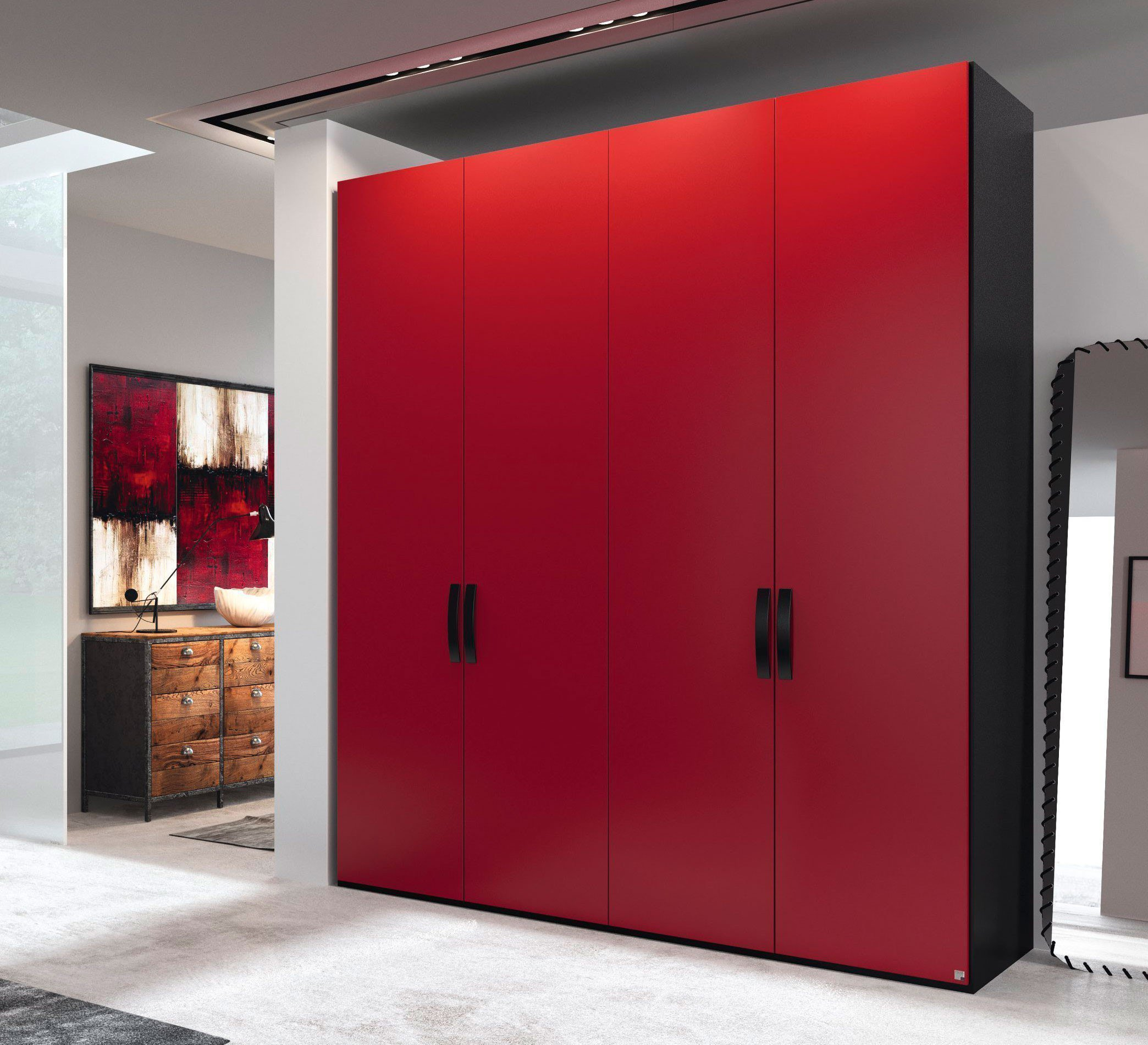 rauch yourjoyce kleiderschrank rot m bel letz ihr online shop. Black Bedroom Furniture Sets. Home Design Ideas