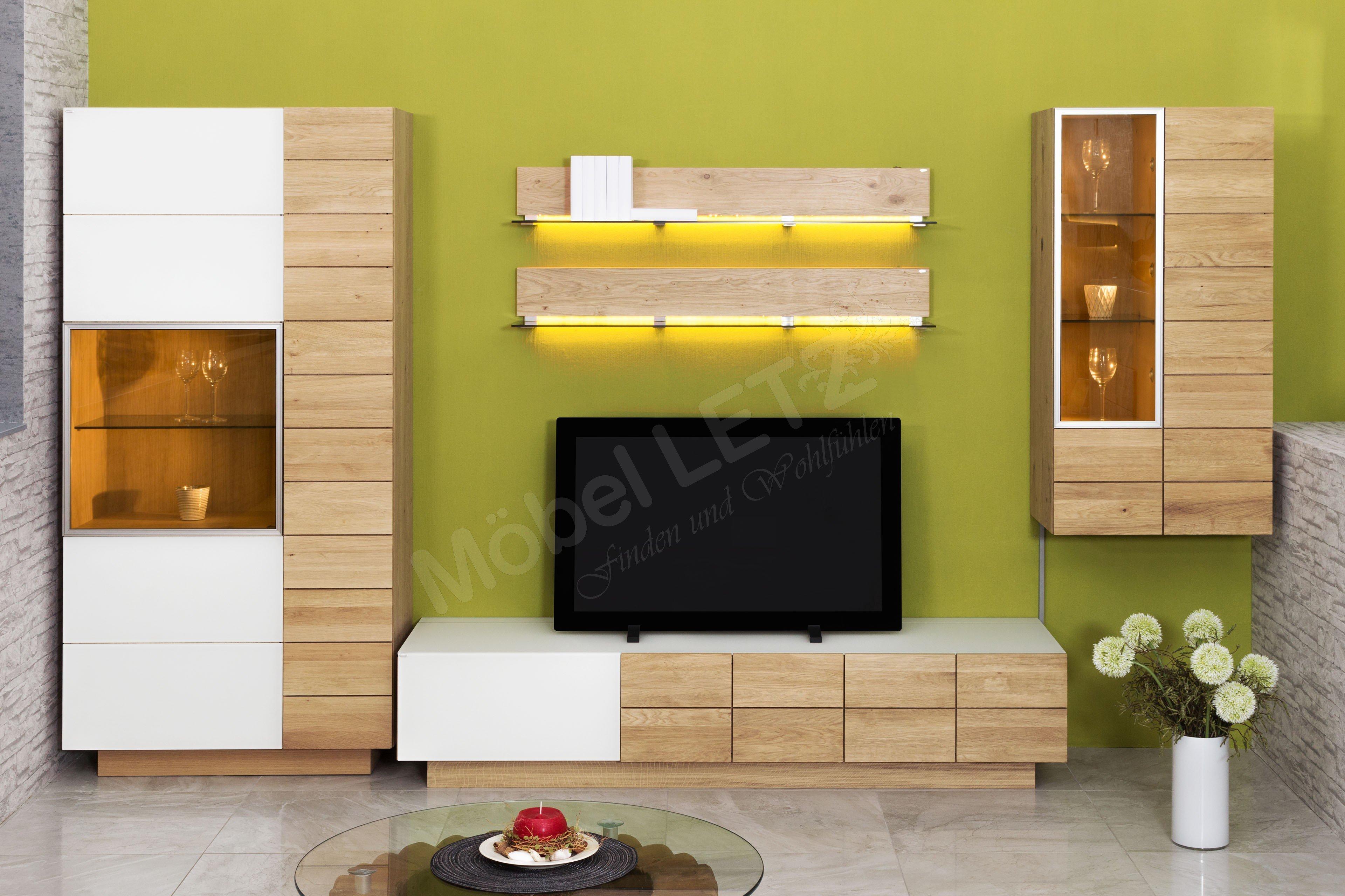 voglauer wohnwand v montana mit beleuchtung m bel letz. Black Bedroom Furniture Sets. Home Design Ideas
