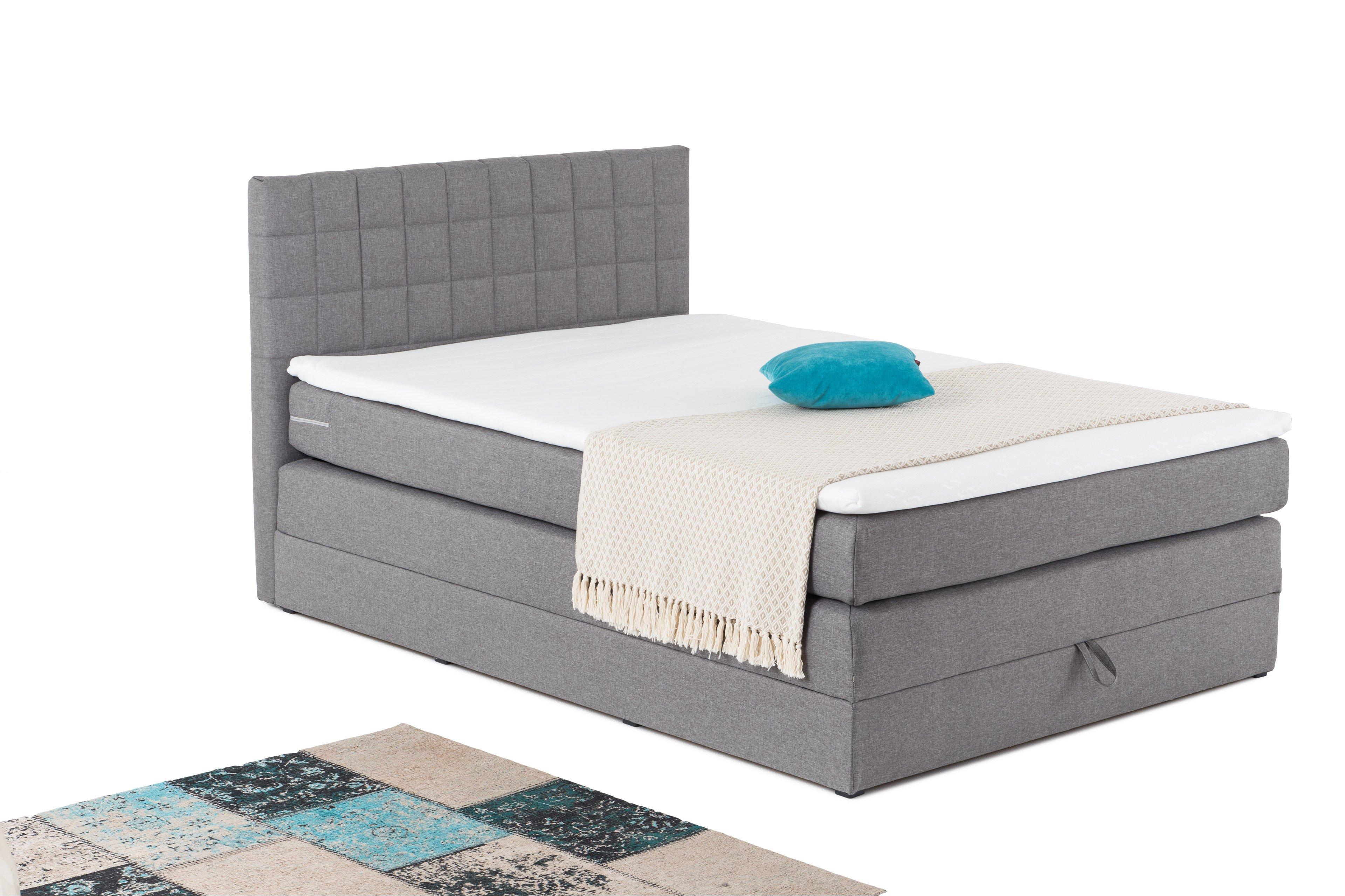 black red white boxspringbett hawaii in grau mit bettkasten m bel letz ihr online shop. Black Bedroom Furniture Sets. Home Design Ideas