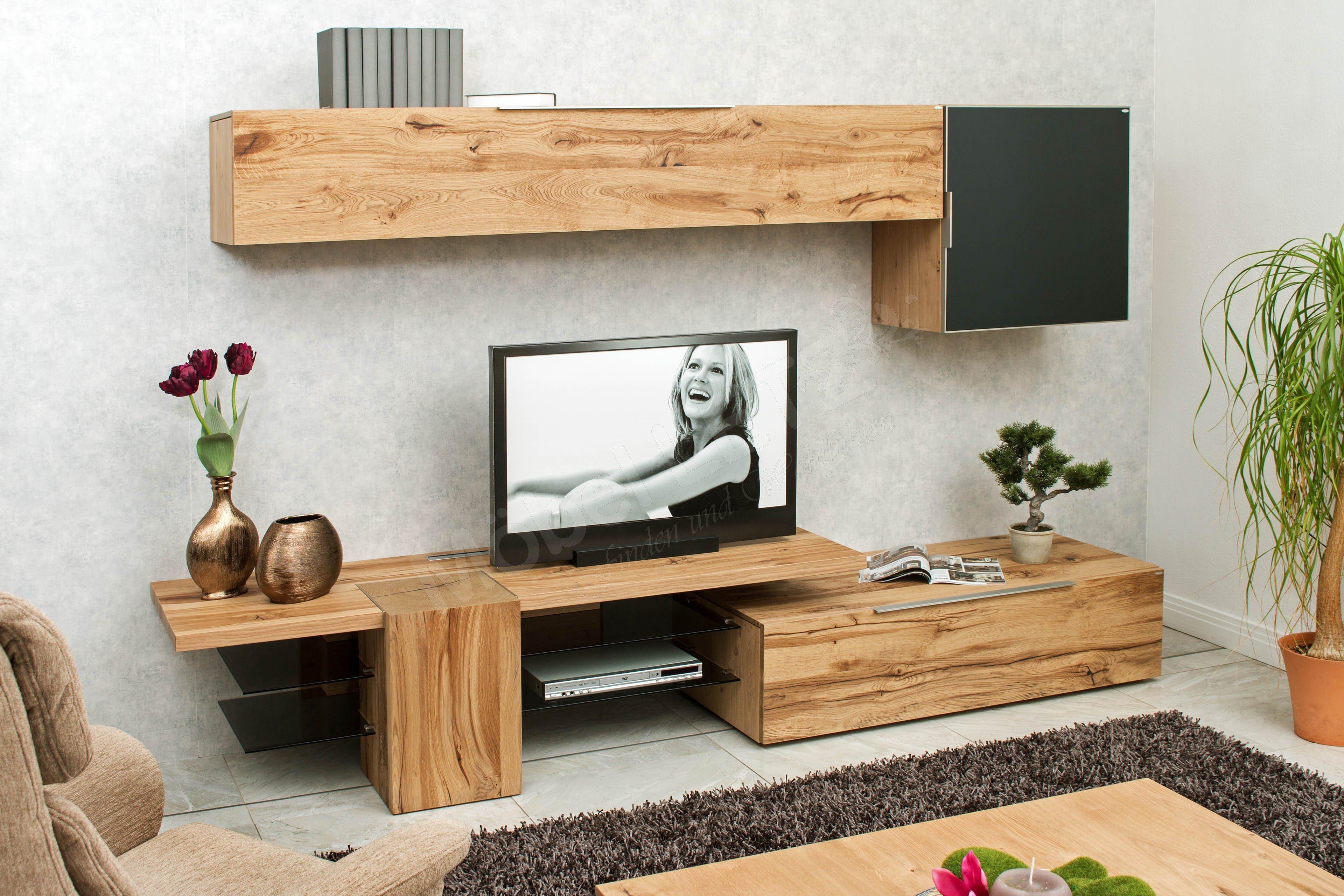 voglauer wohnwand v alpin mit beleuchtung m bel letz ihr online shop. Black Bedroom Furniture Sets. Home Design Ideas