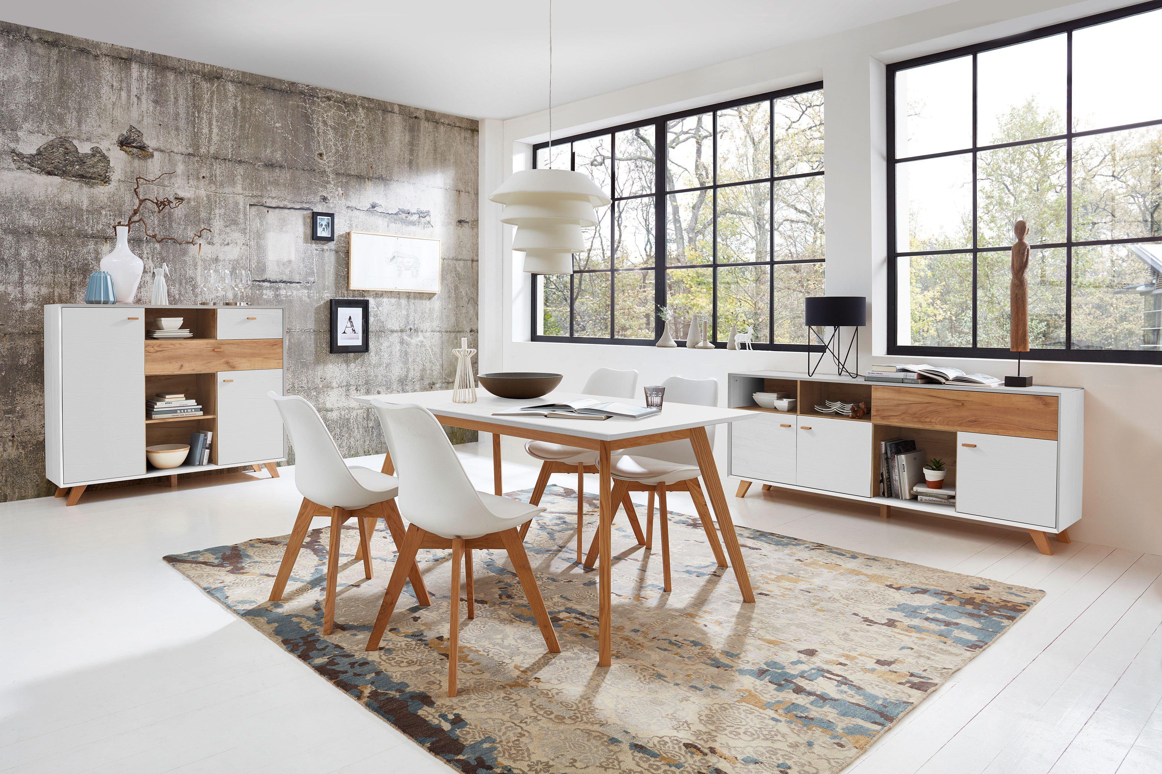 germania esstisch calvi in pinie wei eiche navarra m bel letz ihr online shop. Black Bedroom Furniture Sets. Home Design Ideas
