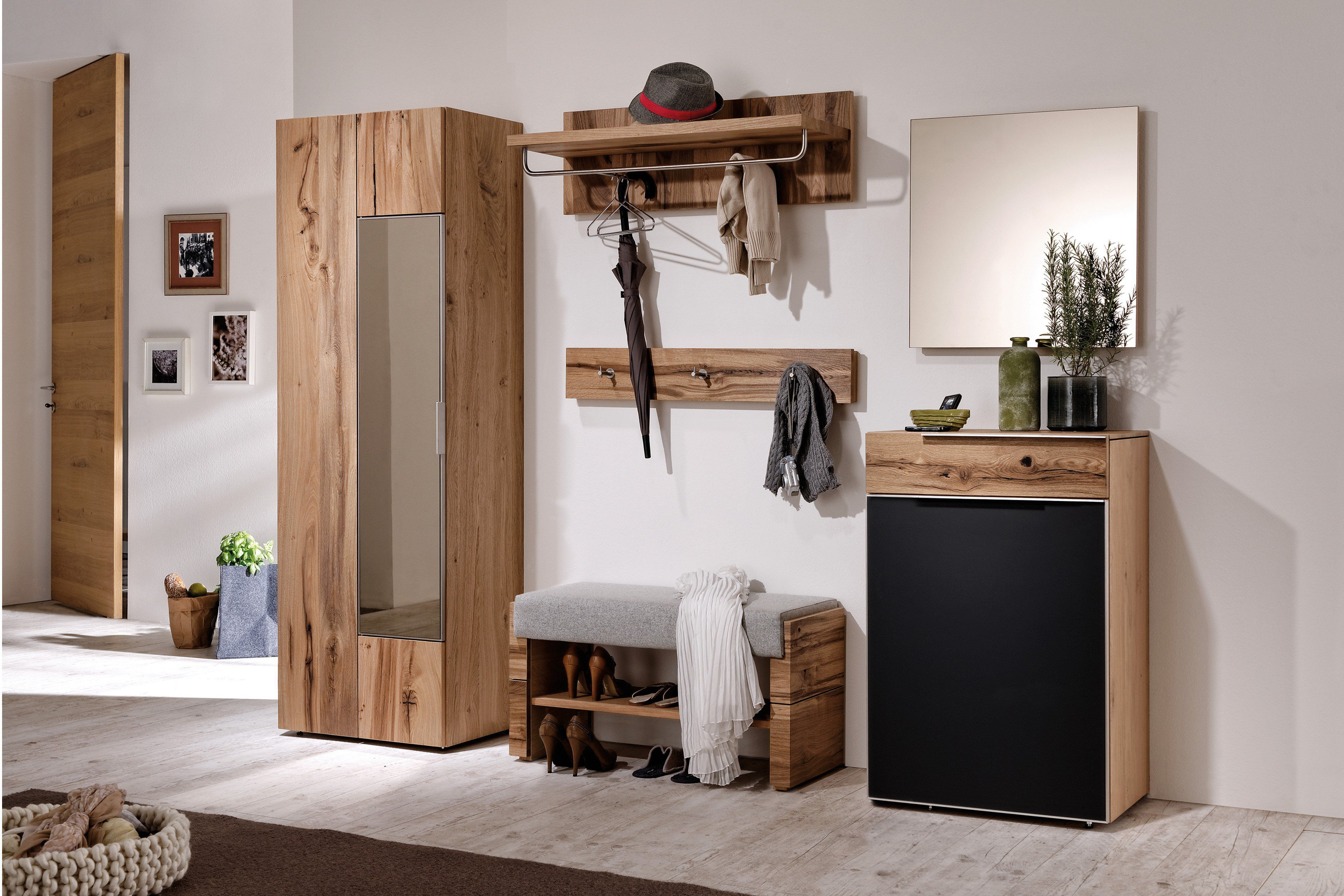 garderobe v alpin viento von voglauer eiche altholz m bel letz ihr online shop. Black Bedroom Furniture Sets. Home Design Ideas
