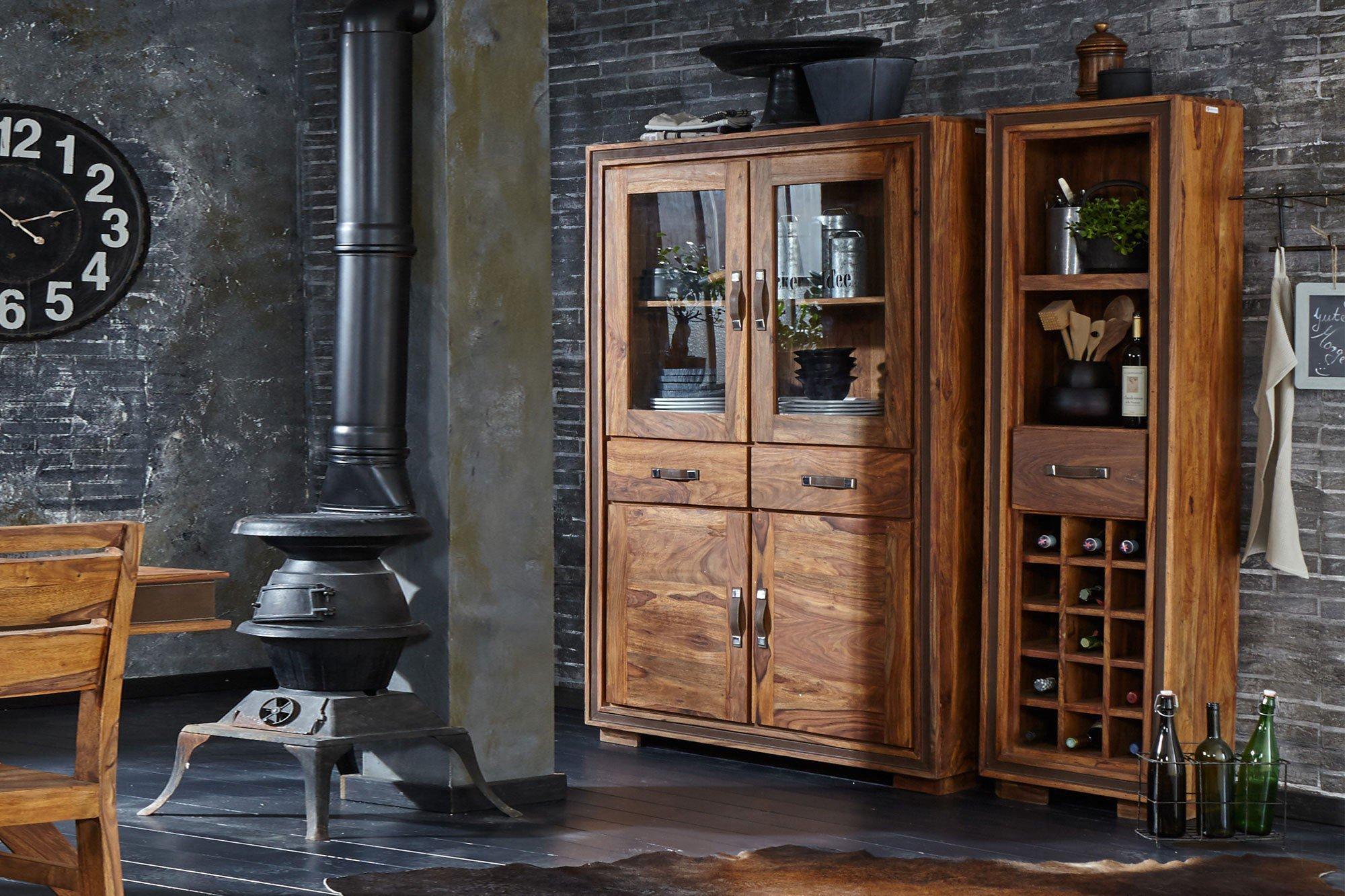 wolf m bel vitrine mit zwei glaselementen m bel letz ihr online shop. Black Bedroom Furniture Sets. Home Design Ideas