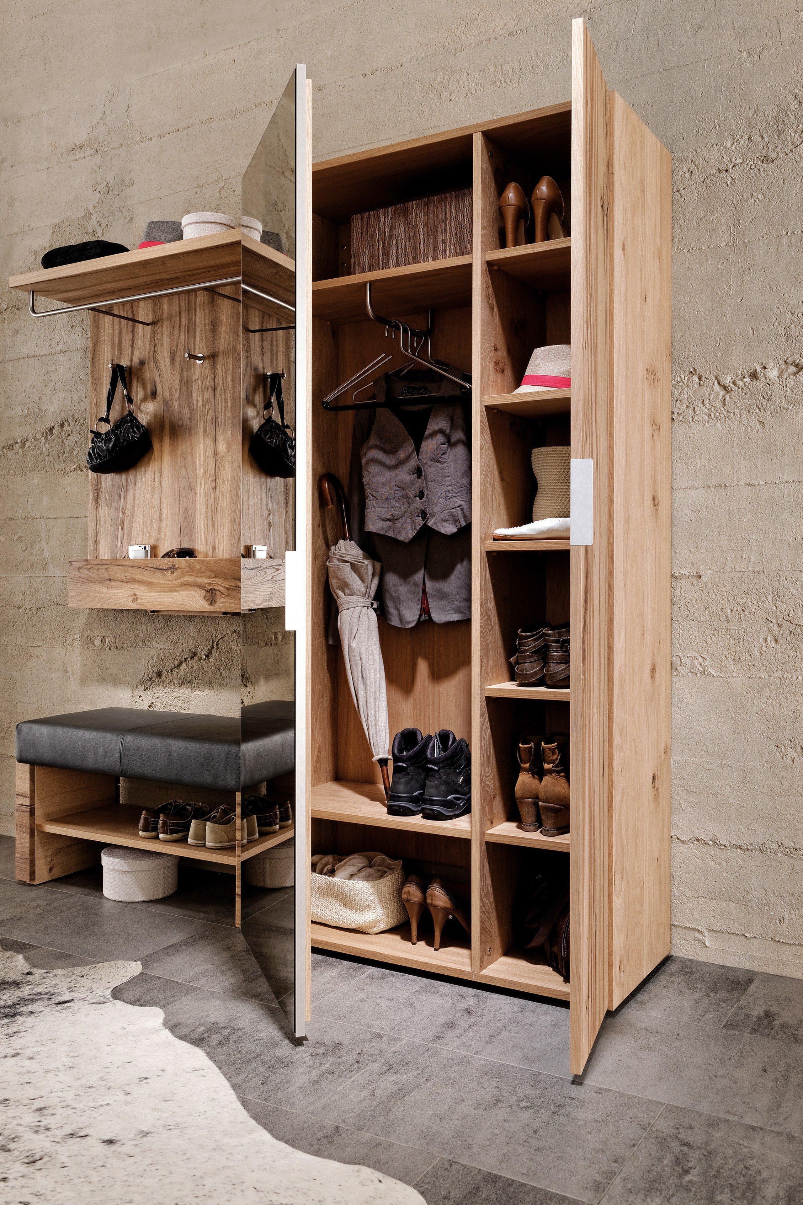 garderobe v alpin viento in altholz mit sitzbank von voglauer m bel letz ihr online shop. Black Bedroom Furniture Sets. Home Design Ideas