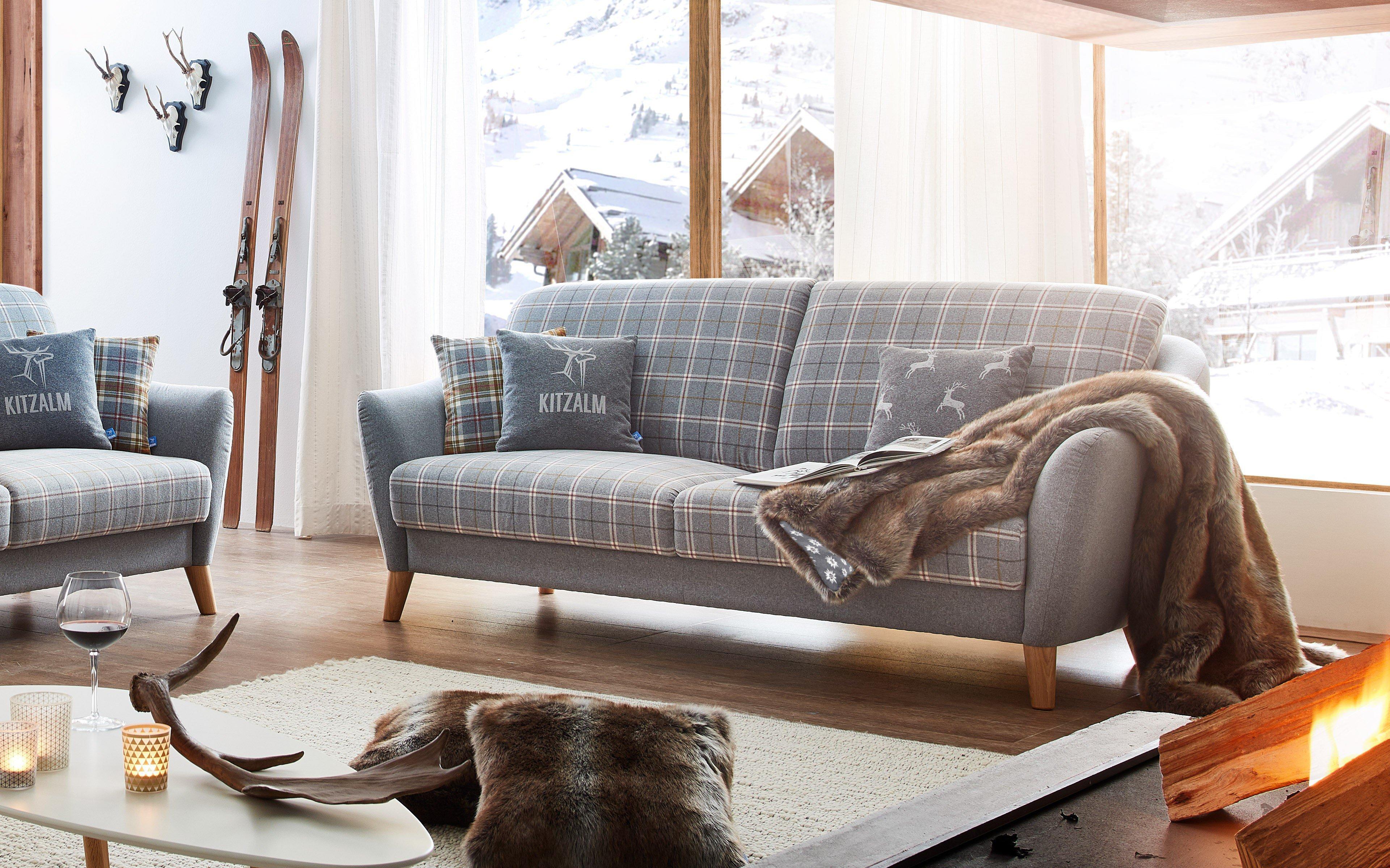 Schröno Seefeld Sofagruppe Grau Kariert Möbel Letz Ihr Online Shop