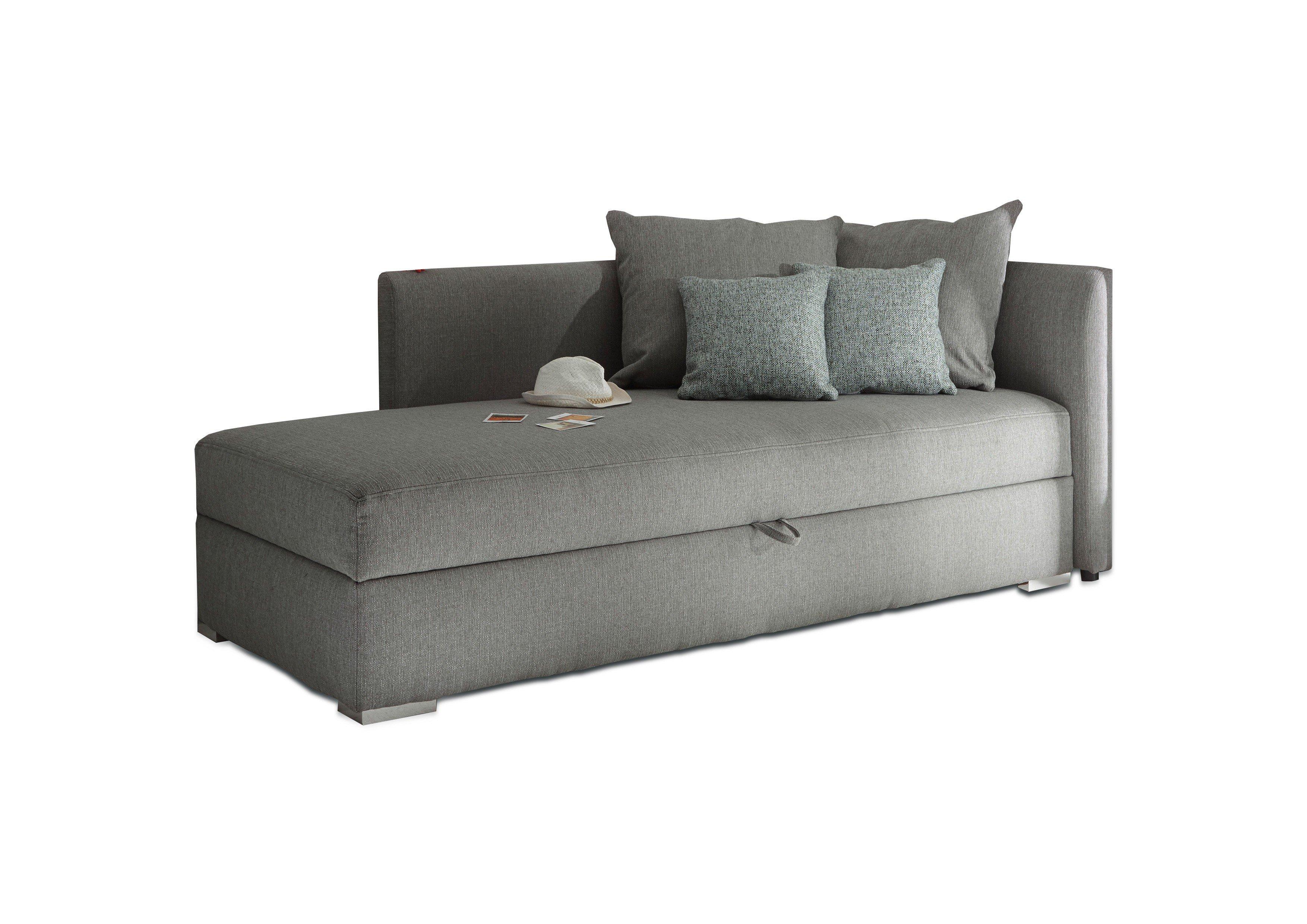 black red white mika einzelliege im farbton silver inklusive r ckenkissen m bel letz ihr. Black Bedroom Furniture Sets. Home Design Ideas