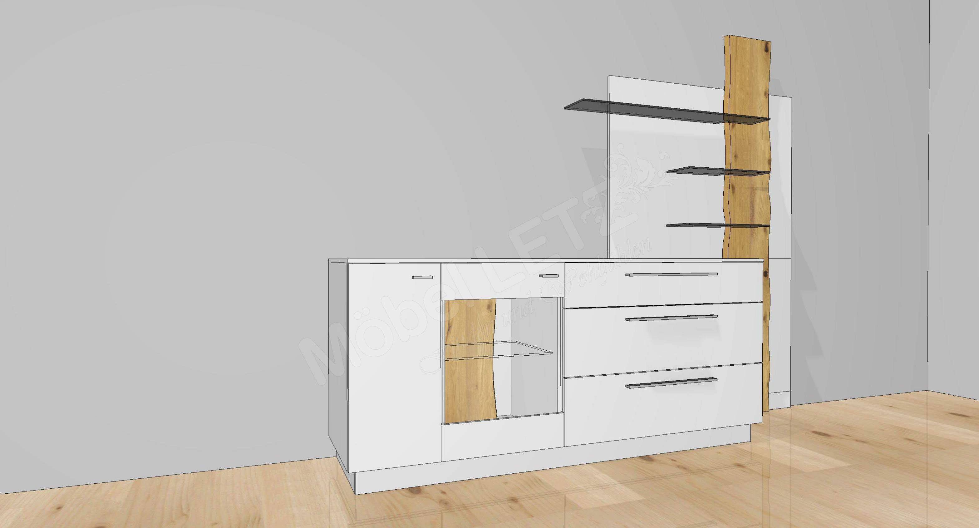 gwinner sideboard lucca sbs3 kaschmir eiche natur m bel. Black Bedroom Furniture Sets. Home Design Ideas