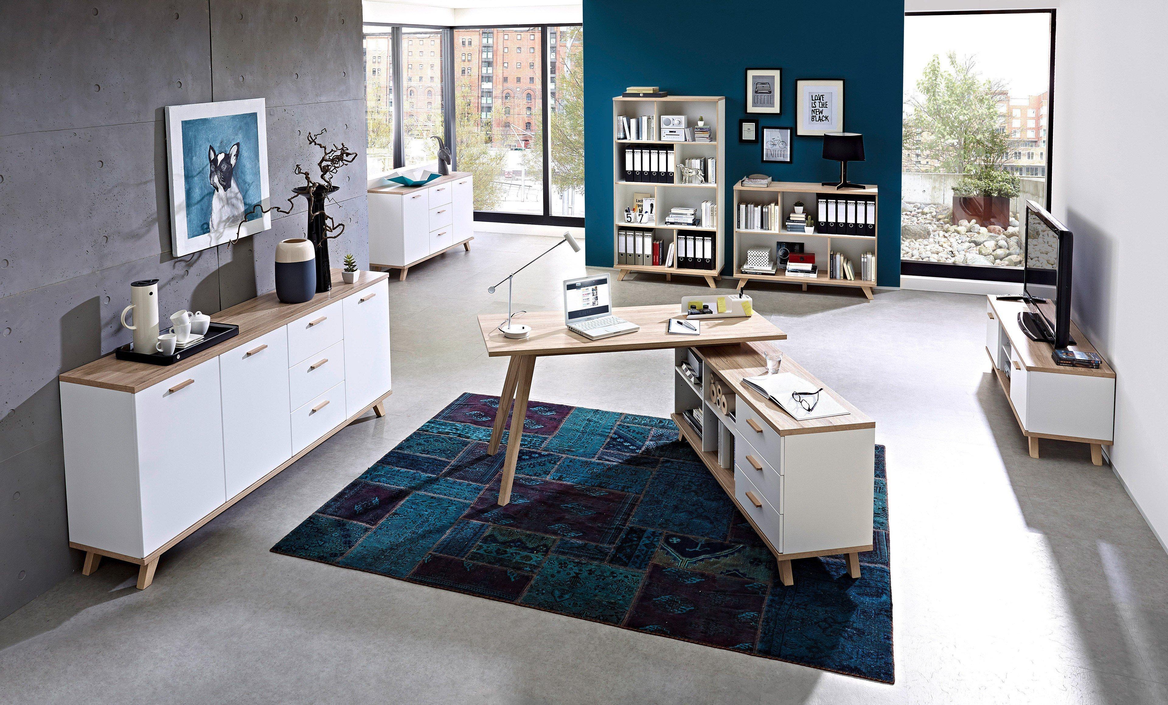 Wunderschön Schreibtisch Oslo Galerie Von Gw-oslo Von Germania - Mit Regal Weiß-sanremo