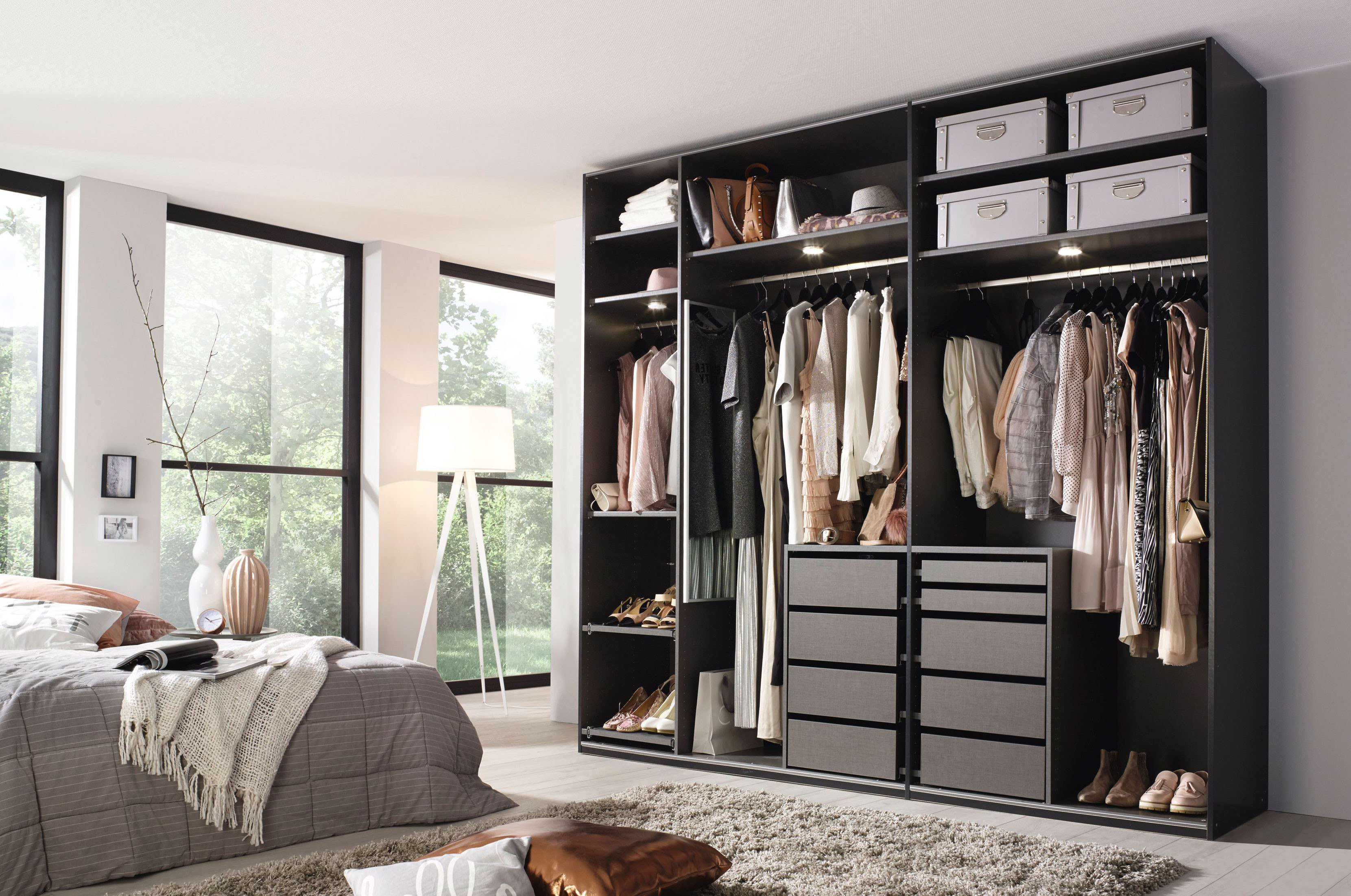kleiderschrank offenes system ih41 hitoiro. Black Bedroom Furniture Sets. Home Design Ideas