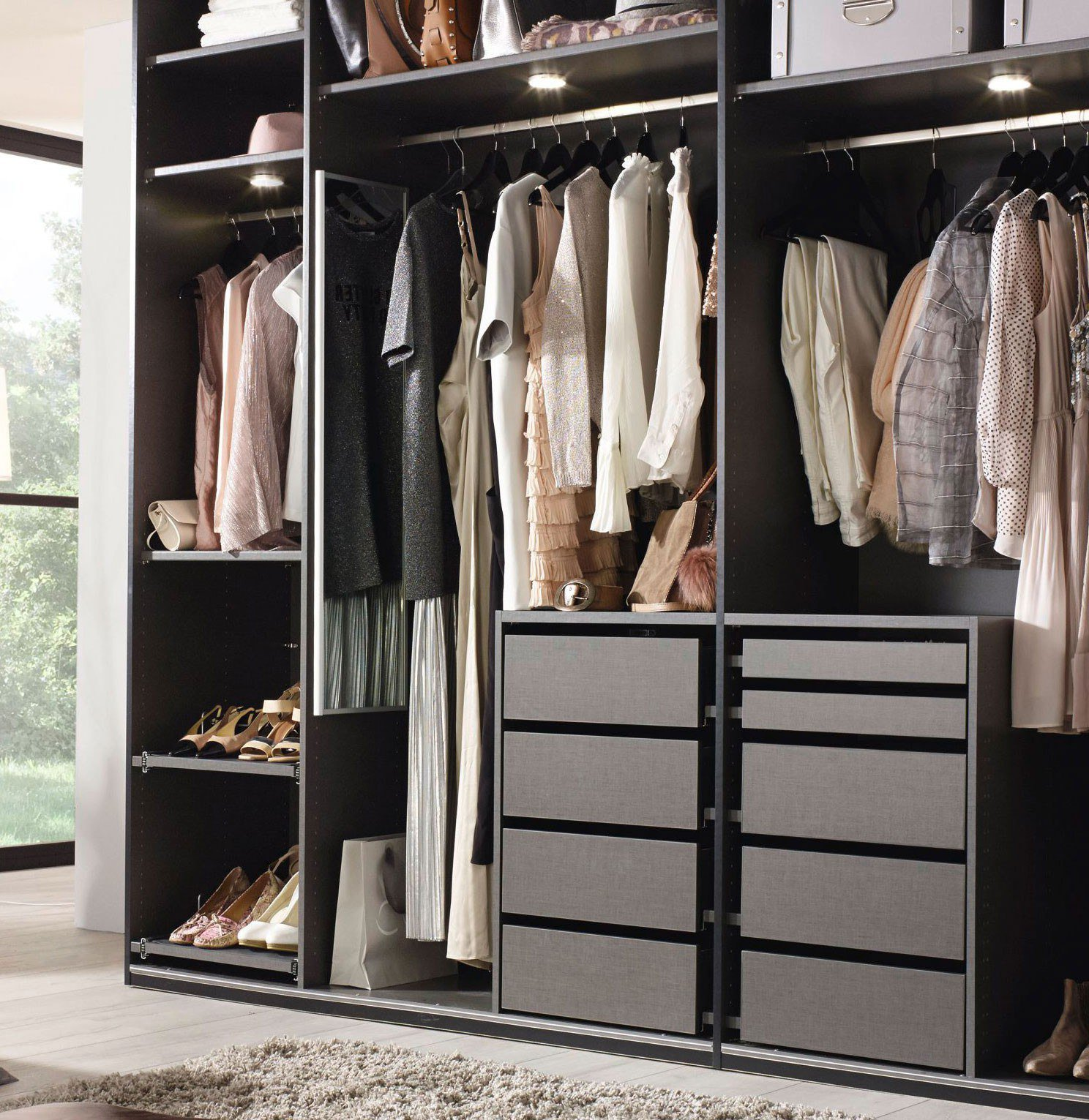 rauch yourjoyce kleiderschrank ohne t ren m bel letz ihr online shop. Black Bedroom Furniture Sets. Home Design Ideas