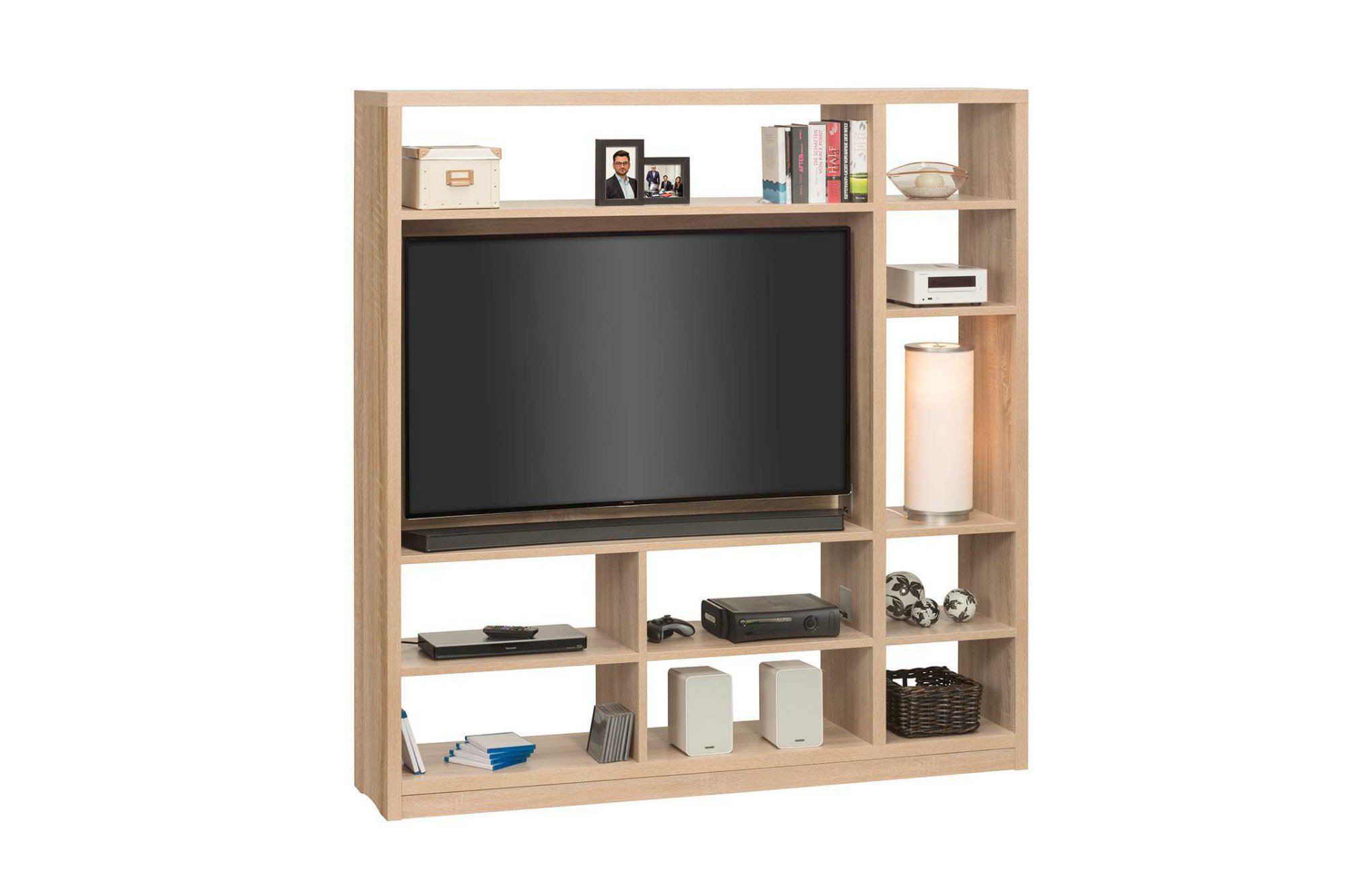 maja m bel raumteiler cableboard mit tv halterung m bel. Black Bedroom Furniture Sets. Home Design Ideas