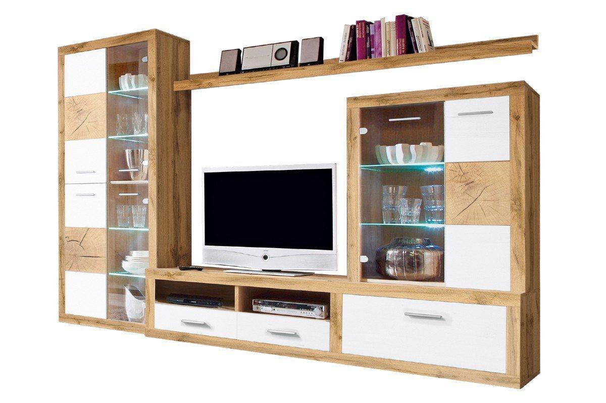 hbz meble wohnwand woods wildeiche wei m bel letz. Black Bedroom Furniture Sets. Home Design Ideas