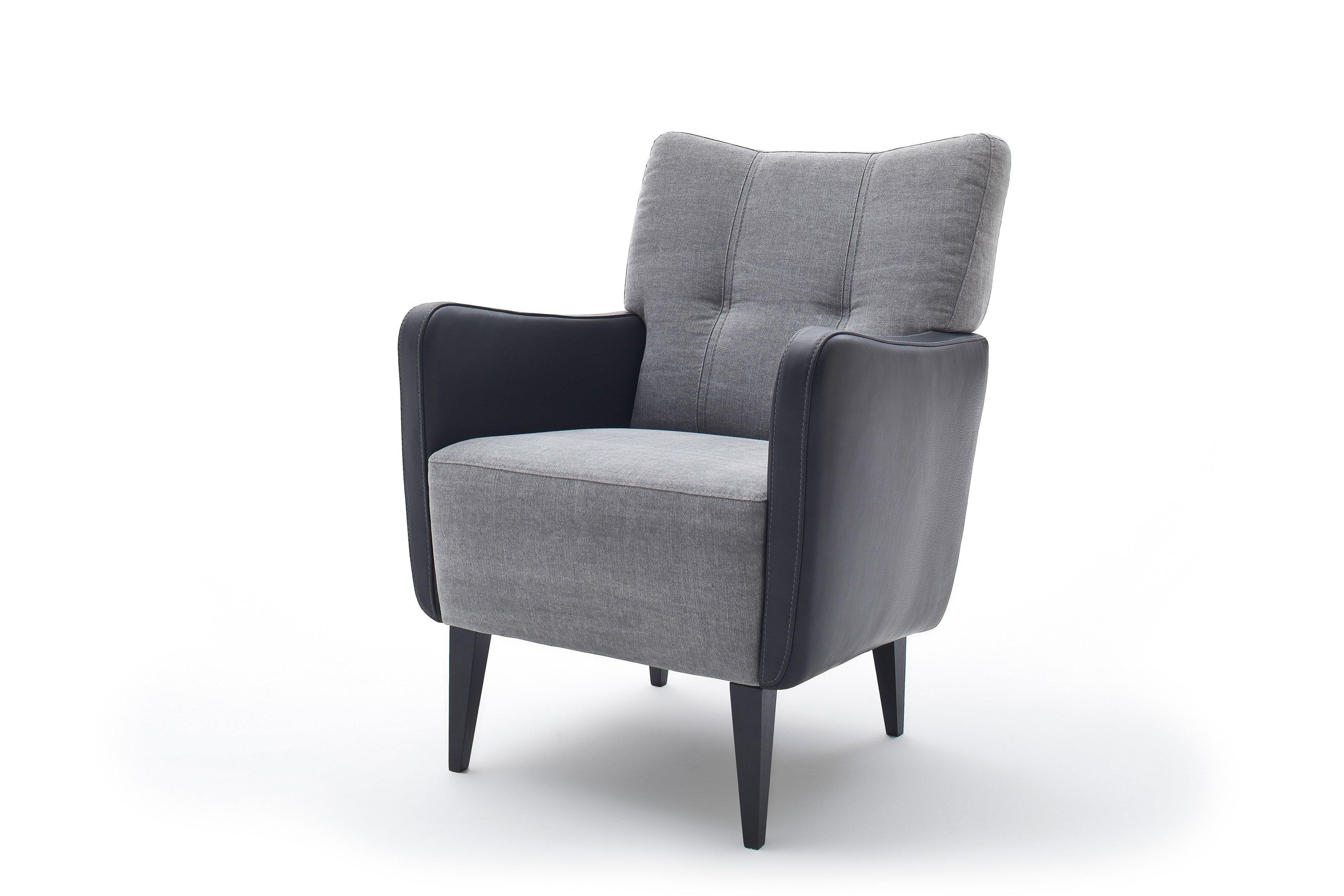 dfm polsterm bel maxim sessel grau schwarz m bel letz ihr online shop. Black Bedroom Furniture Sets. Home Design Ideas