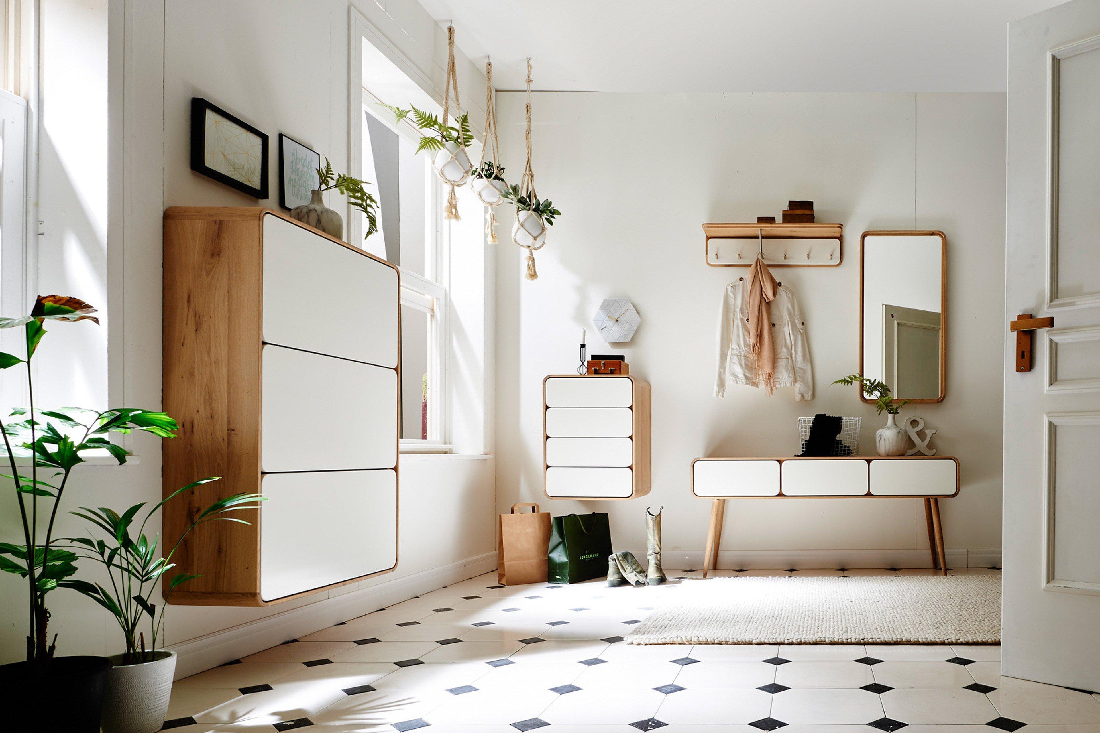 garderobe retro wildeiche teil massiv mit wei en t ren fronten hkc m bel letz ihr online. Black Bedroom Furniture Sets. Home Design Ideas