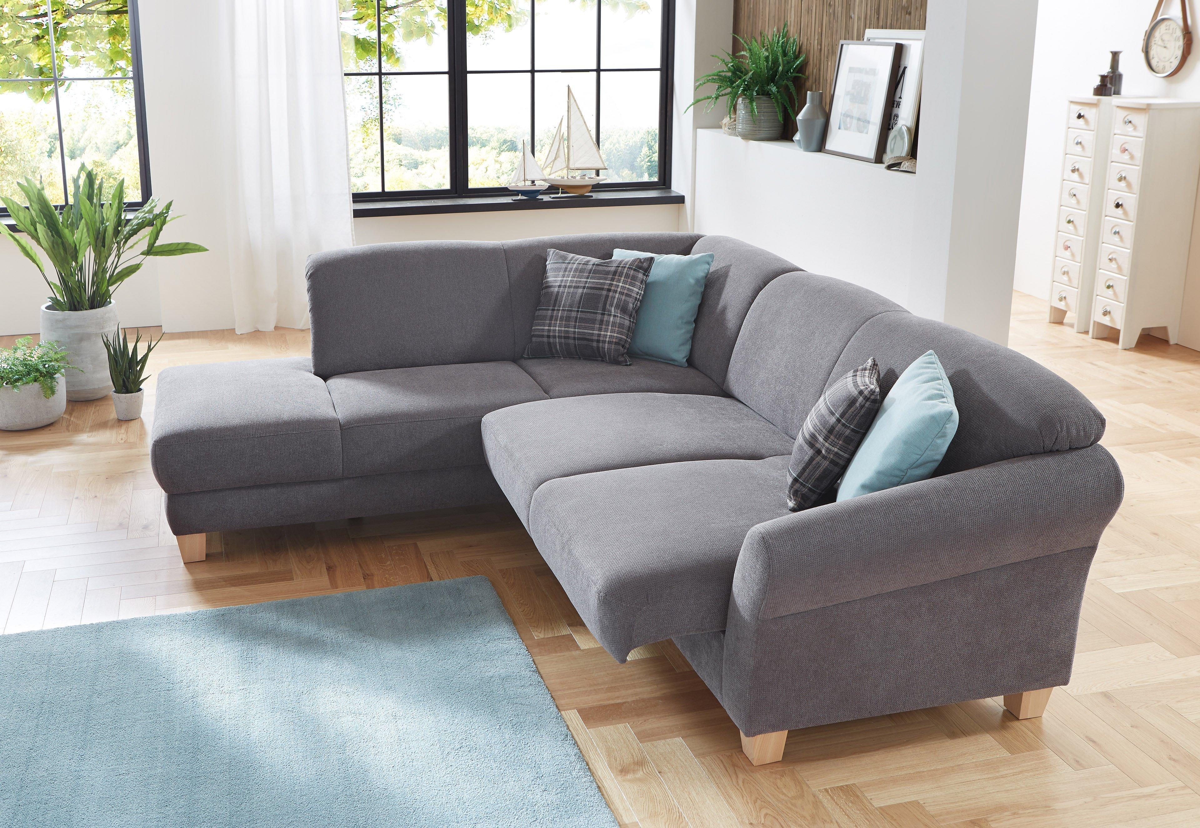 sit more home basic gotland ecksofa grau m bel letz ihr online shop. Black Bedroom Furniture Sets. Home Design Ideas