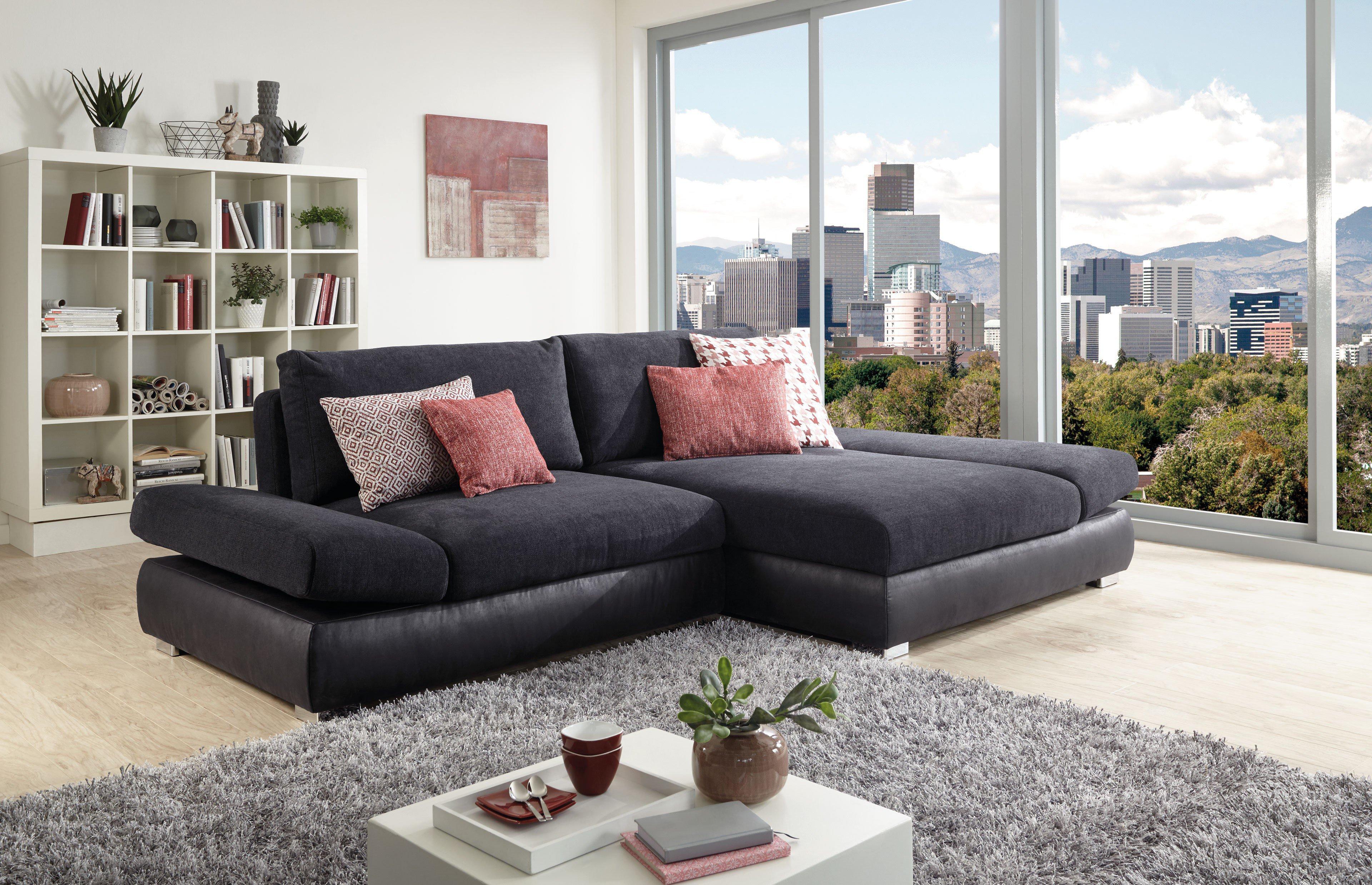 poco polsterm bel bangkok eckgarnitur anthrazit schwarz. Black Bedroom Furniture Sets. Home Design Ideas